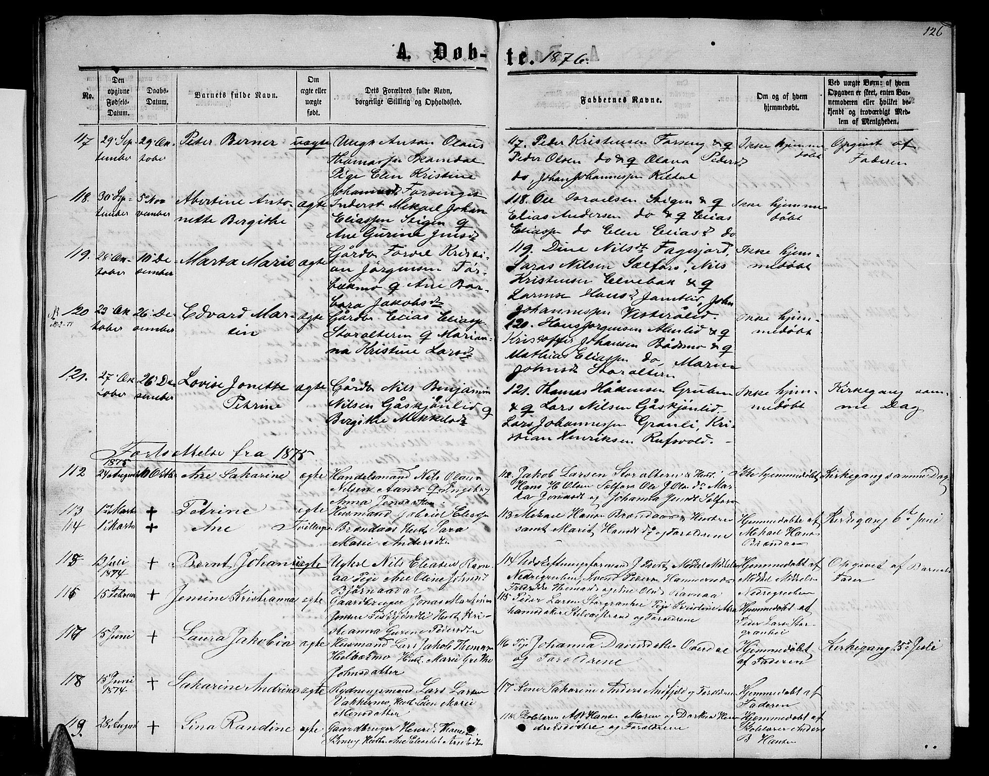SAT, Ministerialprotokoller, klokkerbøker og fødselsregistre - Nordland, 827/L0415: Parish register (copy) no. 827C04, 1864-1886, p. 126