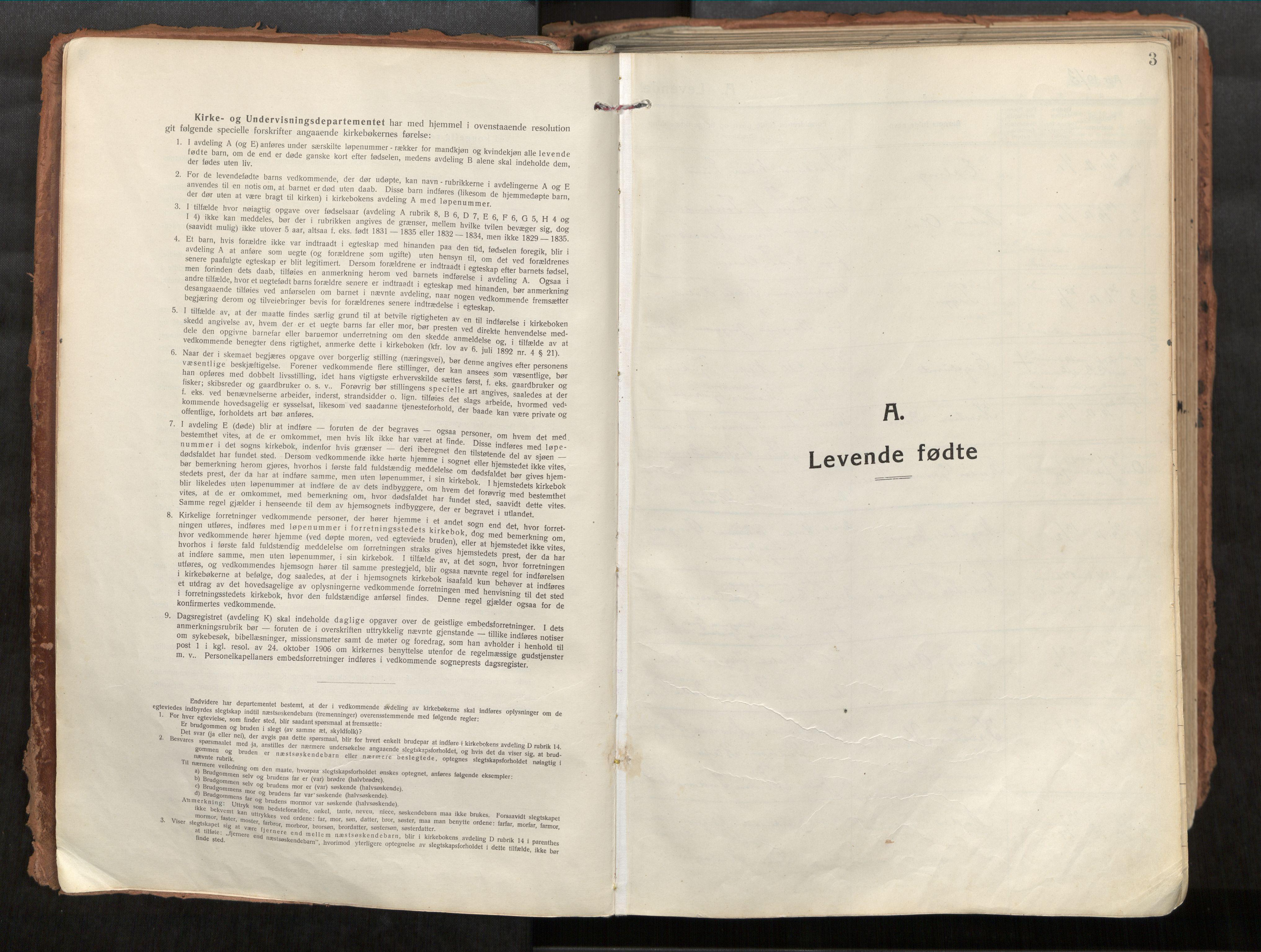 SAT, Vikna sokneprestkontor*, Parish register (official) no. 1, 1913-1934, p. 3