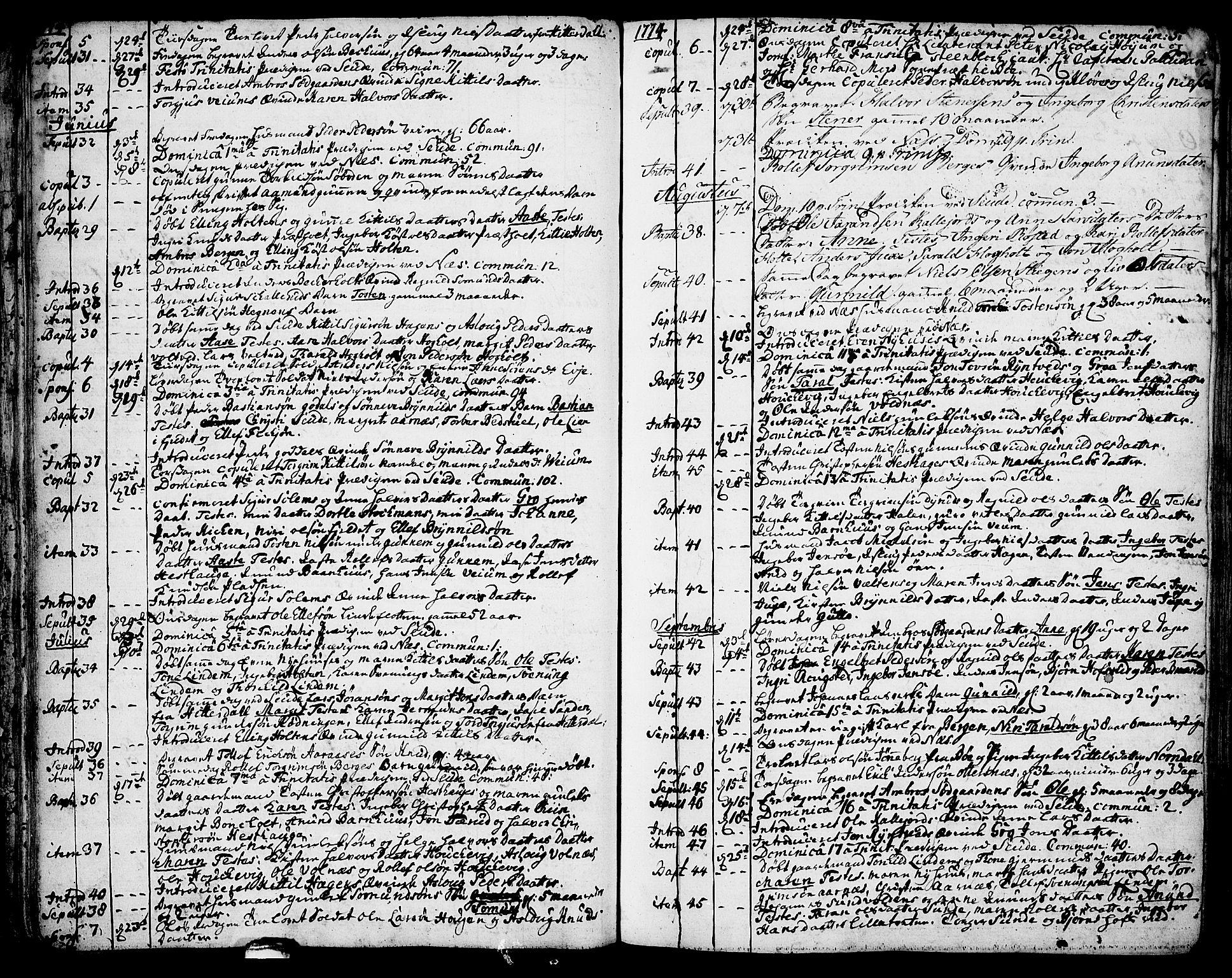 SAKO, Sauherad kirkebøker, F/Fa/L0004: Parish register (official) no. I 4, 1767-1814