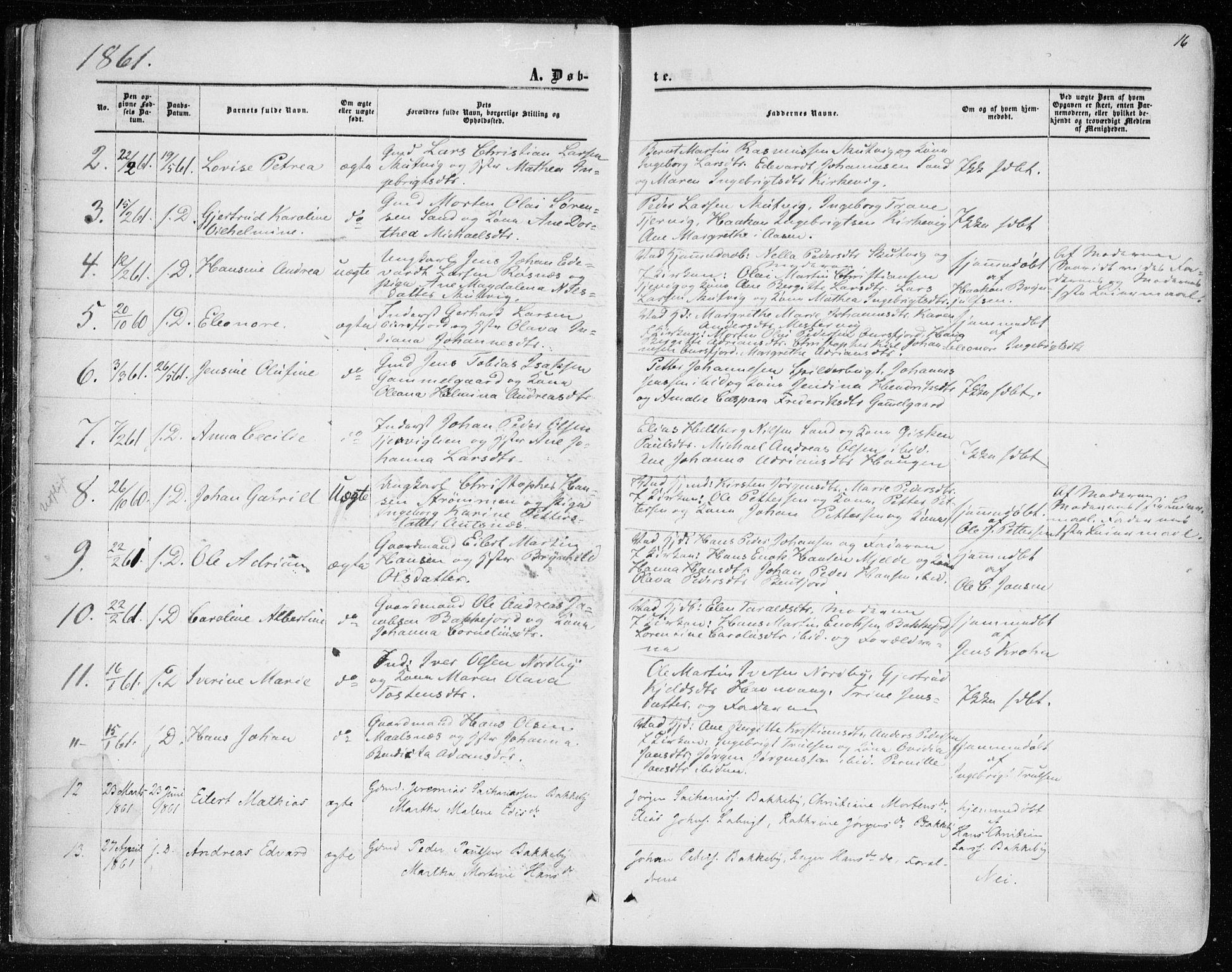 SATØ, Balsfjord sokneprestembete, Parish register (official) no. 1, 1858-1870, p. 16