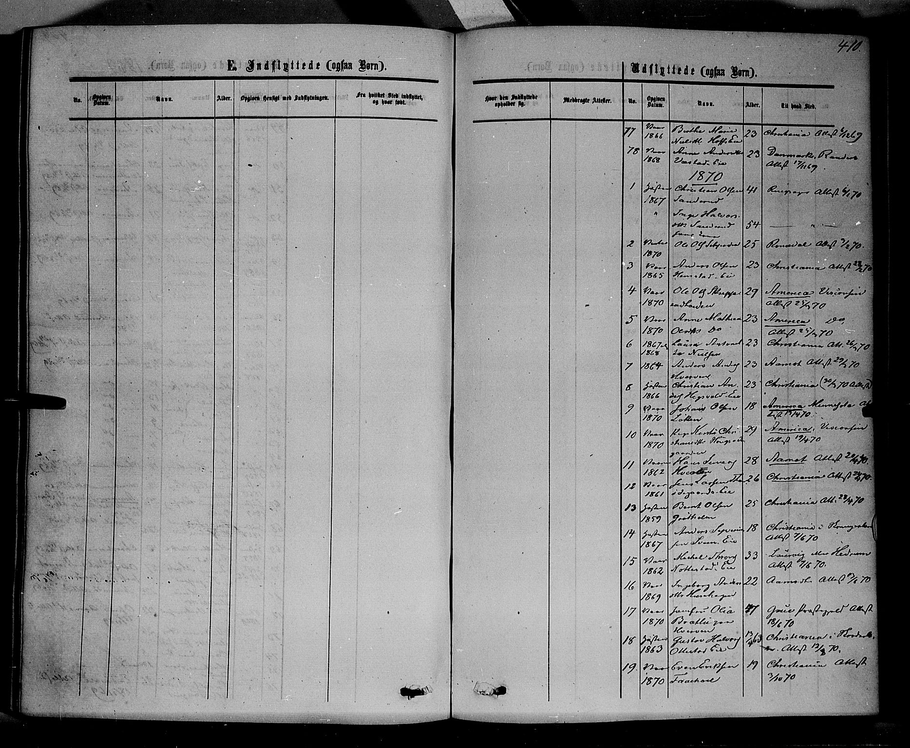 SAH, Stange prestekontor, K/L0013: Parish register (official) no. 13, 1862-1879, p. 410