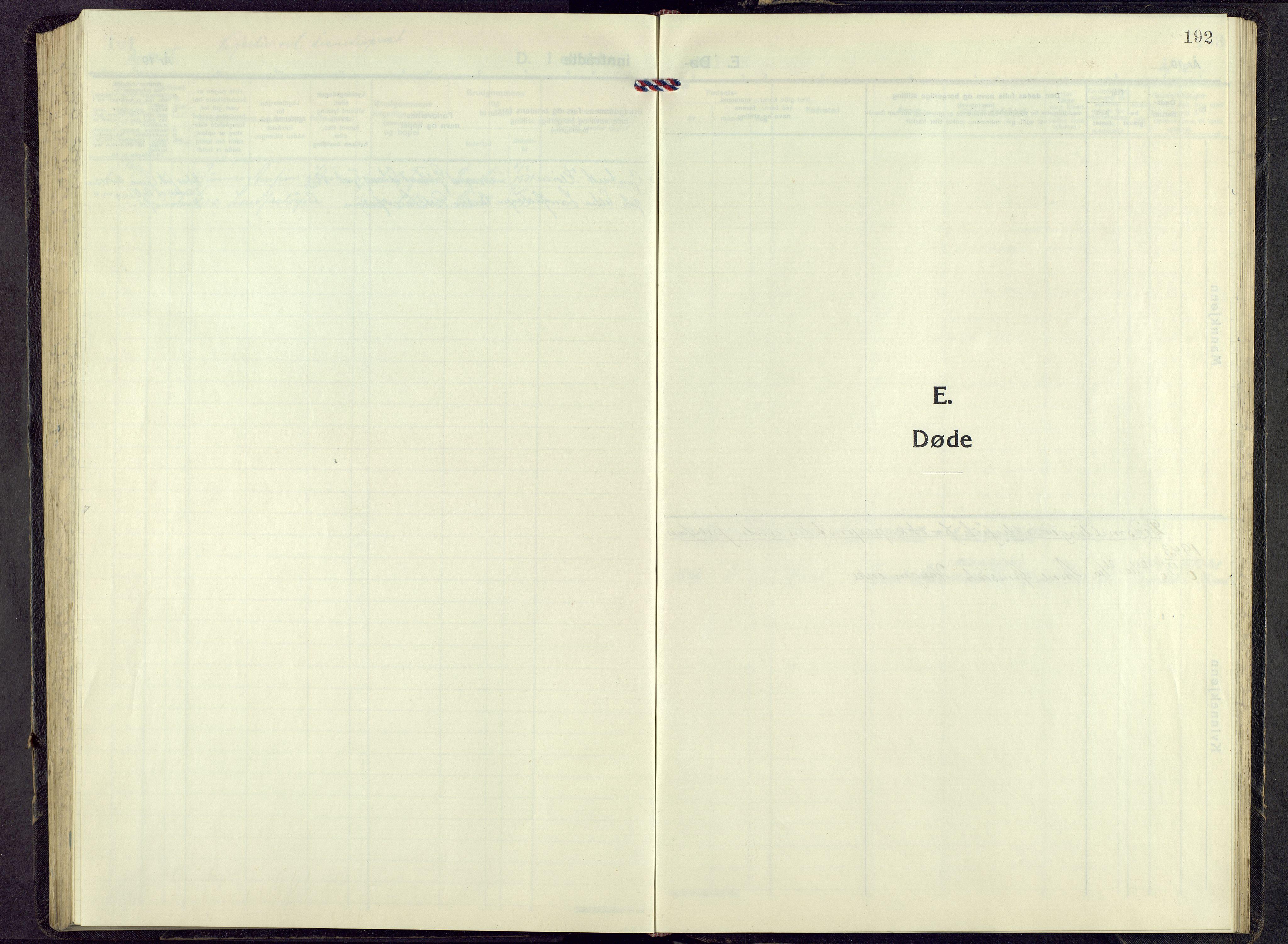 SAH, Alvdal prestekontor, Parish register (copy) no. 9, 1946-1965, p. 191b-192a