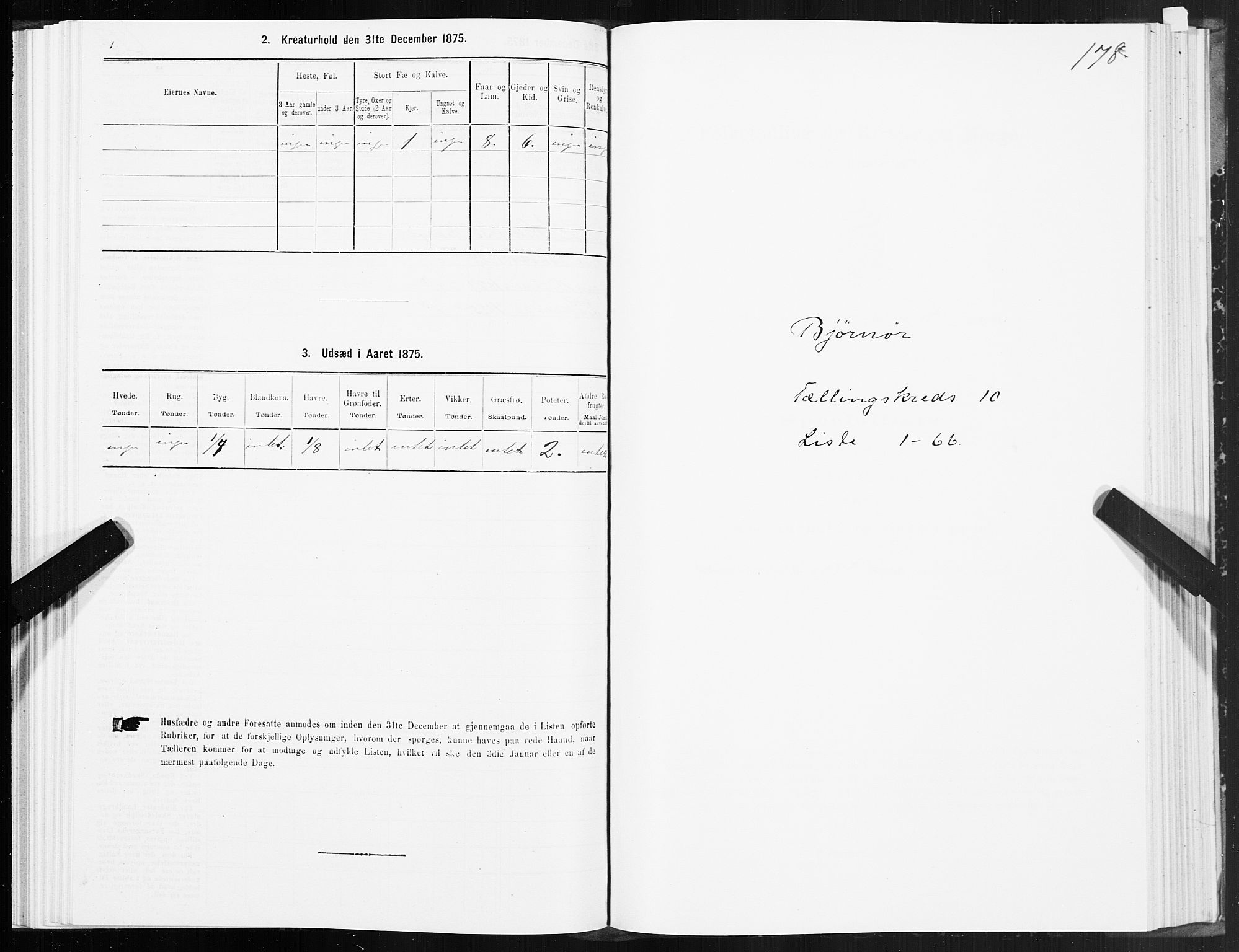 SAT, 1875 census for 1632P Bjørnør, 1875, p. 4178