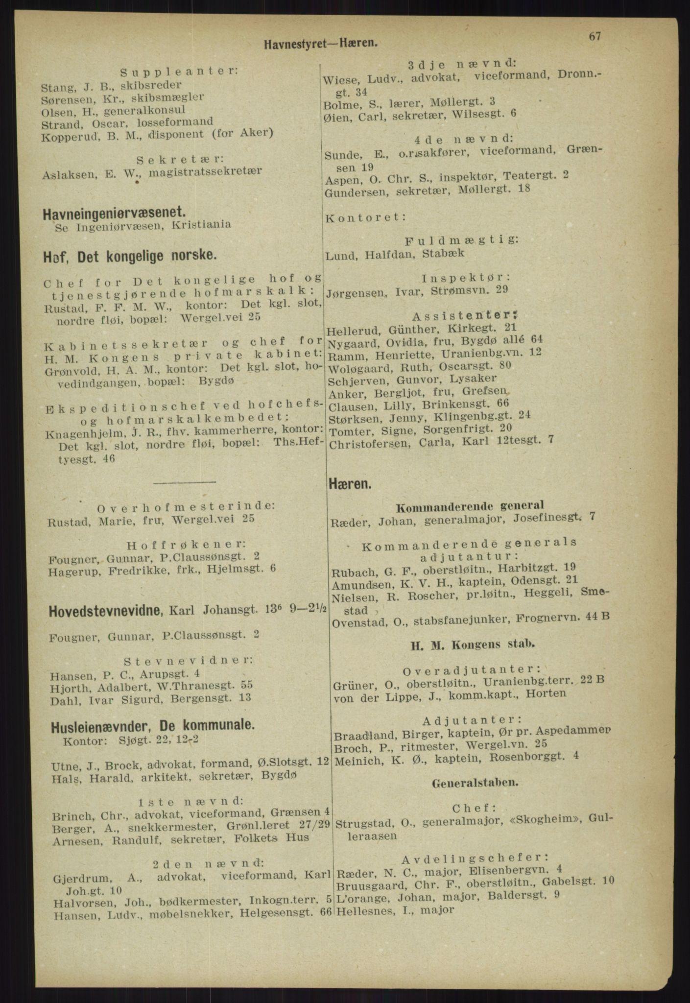 PUBL, Kristiania/Oslo adressebok, 1918, p. 74