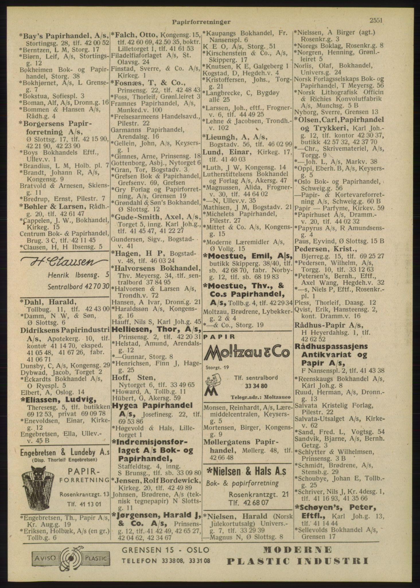 PUBL, Kristiania/Oslo adressebok, 1948, p. 2551