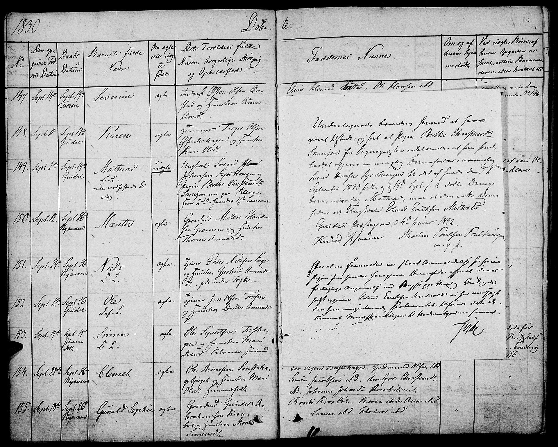SAH, Gausdal prestekontor, Parish register (official) no. 6, 1830-1839, p. 9b