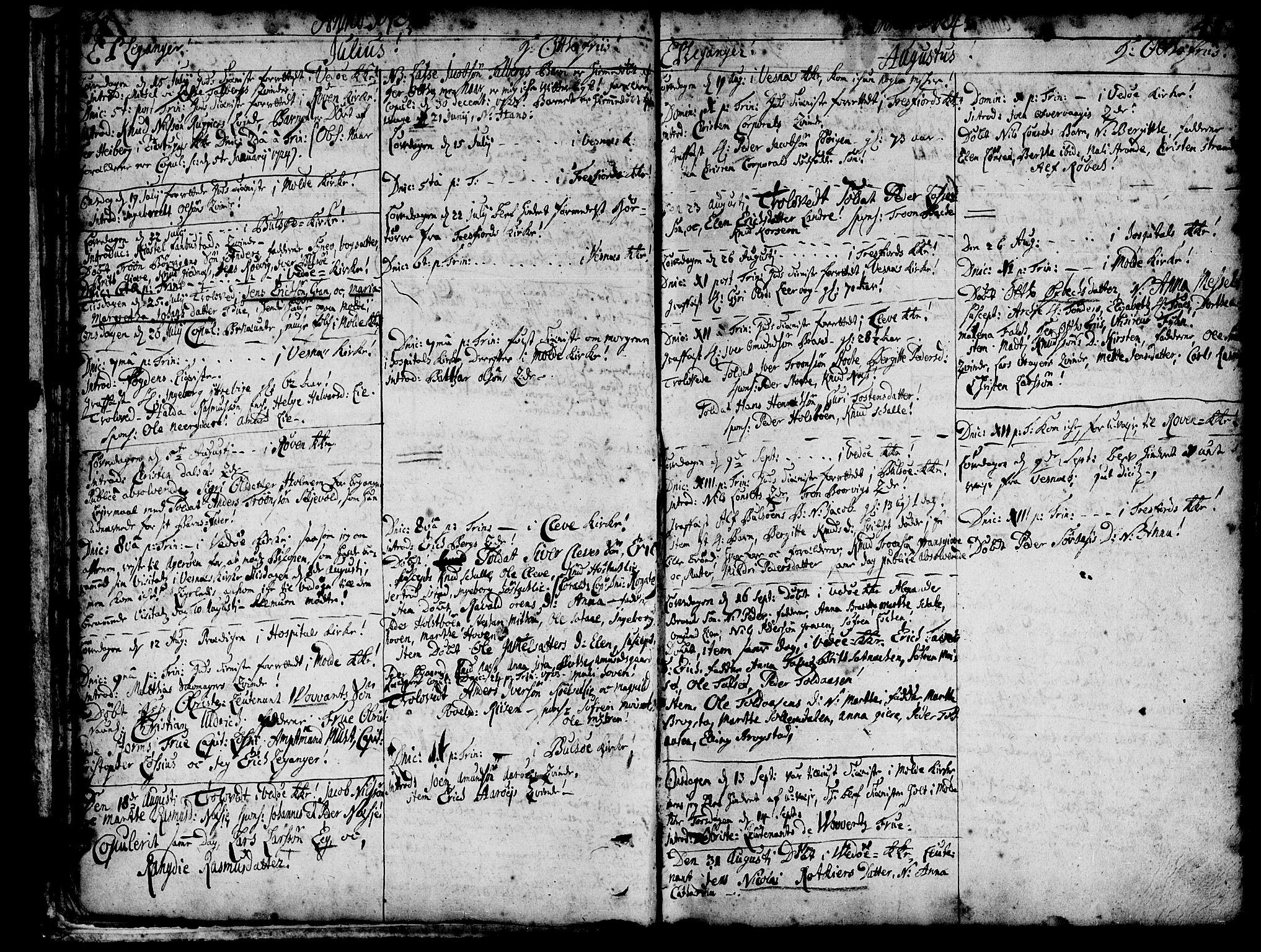 SAT, Ministerialprotokoller, klokkerbøker og fødselsregistre - Møre og Romsdal, 547/L0599: Parish register (official) no. 547A01, 1721-1764, p. 50-51