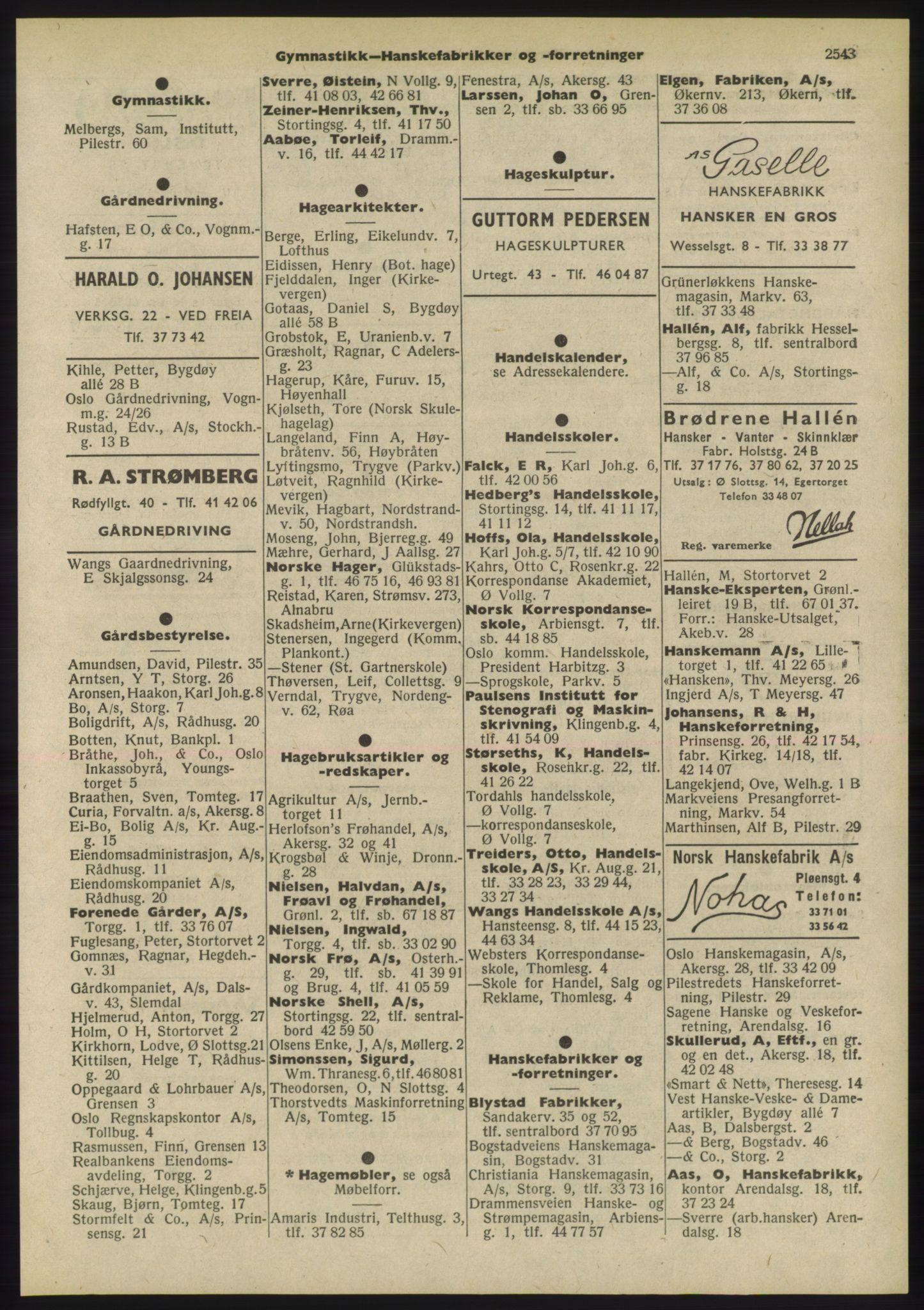 PUBL, Kristiania/Oslo adressebok, 1955, p. 2543