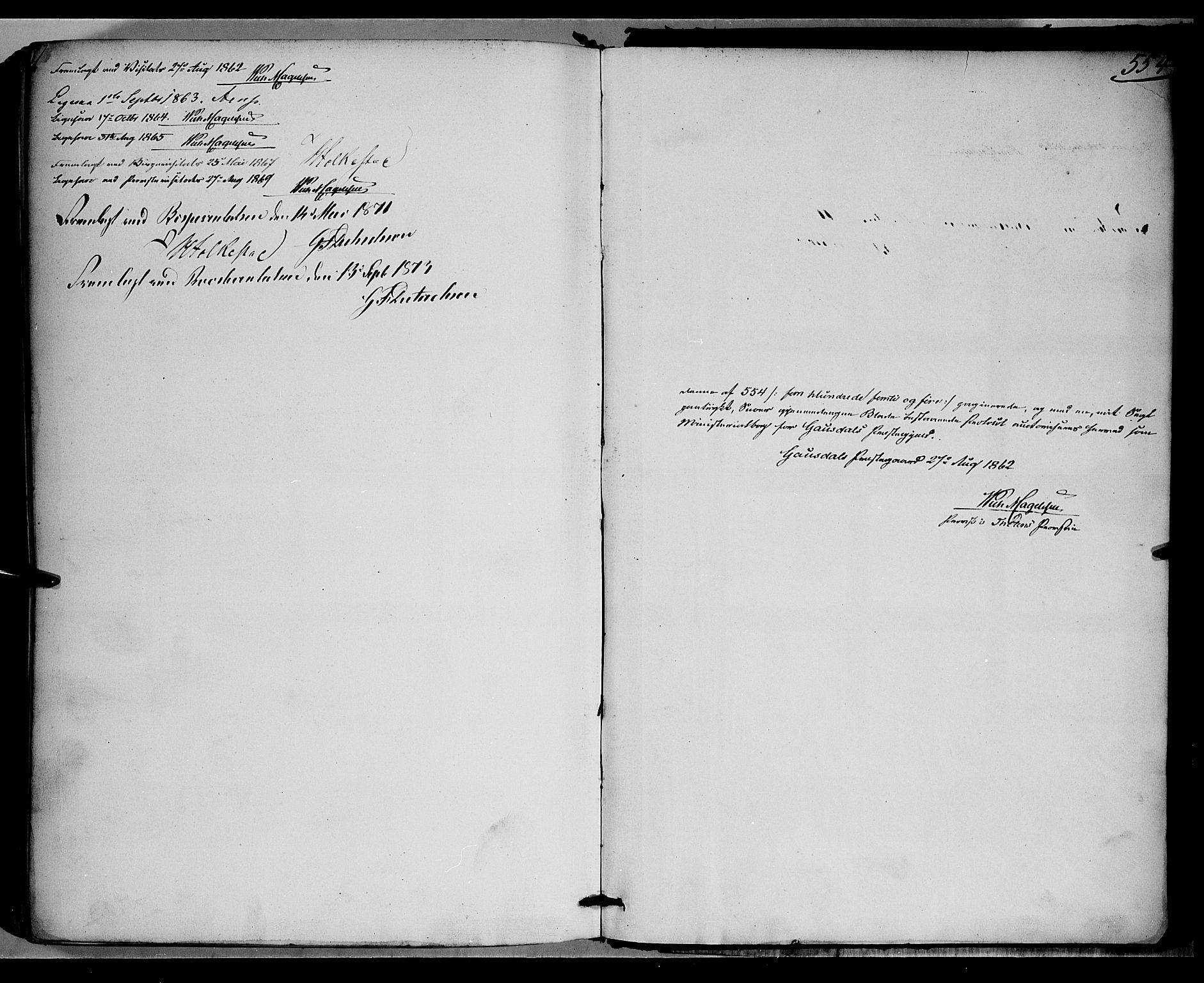 SAH, Gausdal prestekontor, Parish register (official) no. 9, 1862-1873, p. 554