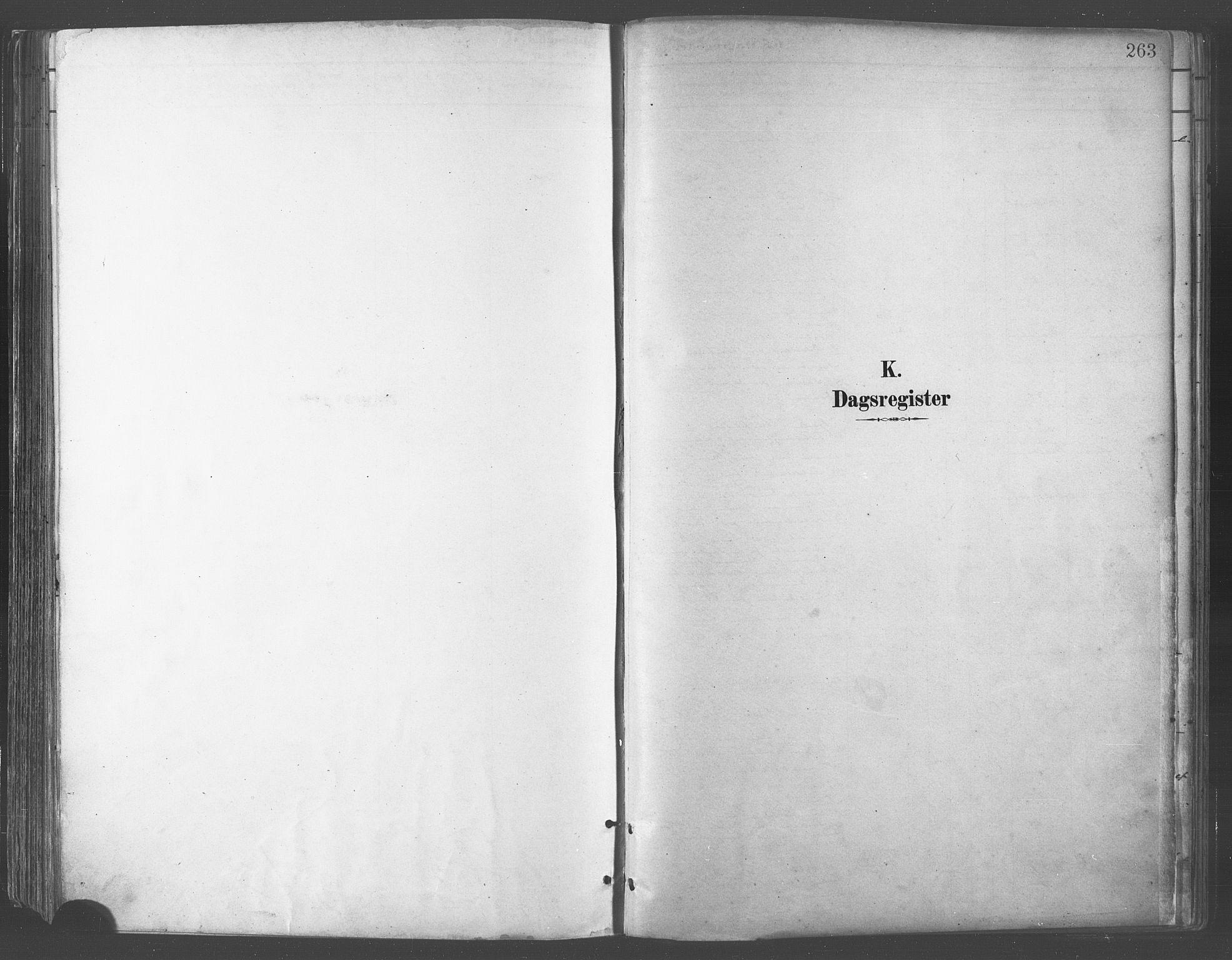 SATØ, Balsfjord sokneprestembete, Parish register (official) no. 5, 1884-1897, p. 263