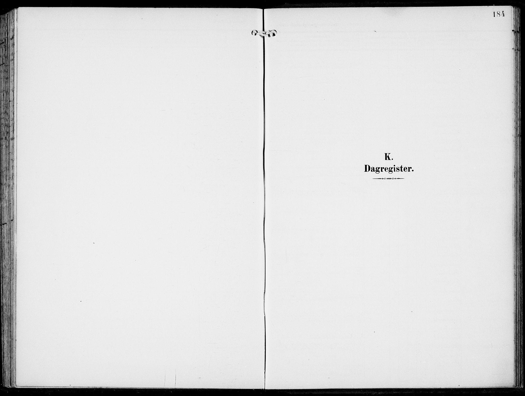 SAB, Haus sokneprestembete, H/Haa: Parish register (official) no. B  2, 1899-1912, p. 184