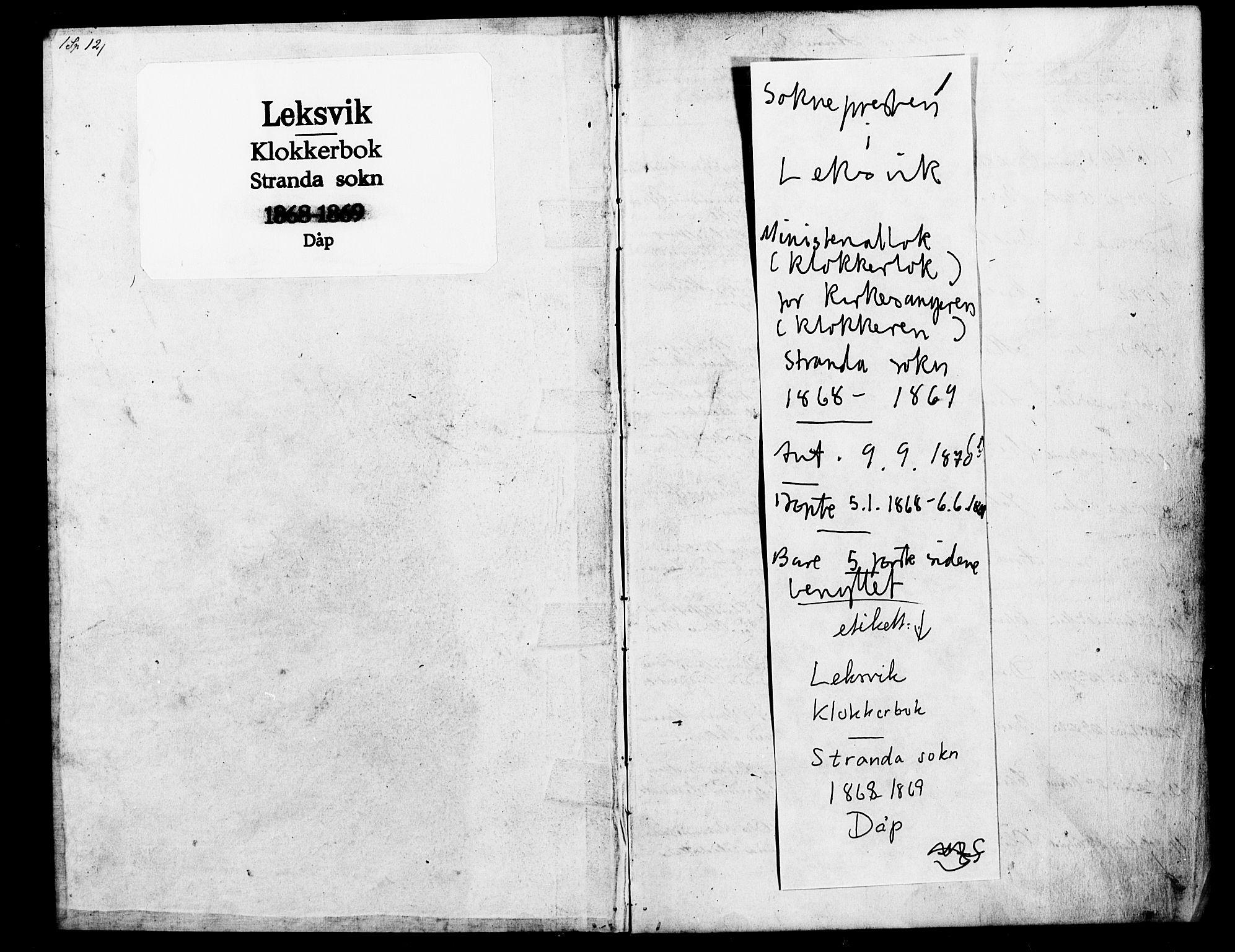 SAT, Ministerialprotokoller, klokkerbøker og fødselsregistre - Nord-Trøndelag, 702/L0025: Parish register (copy) no. 702C01, 1868-1869