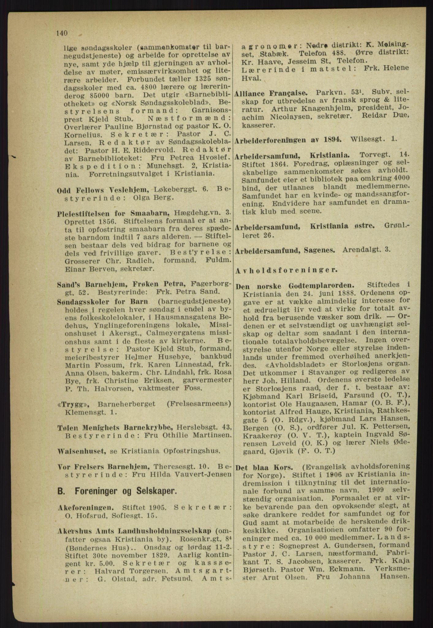 PUBL, Kristiania/Oslo adressebok, 1918, p. 153
