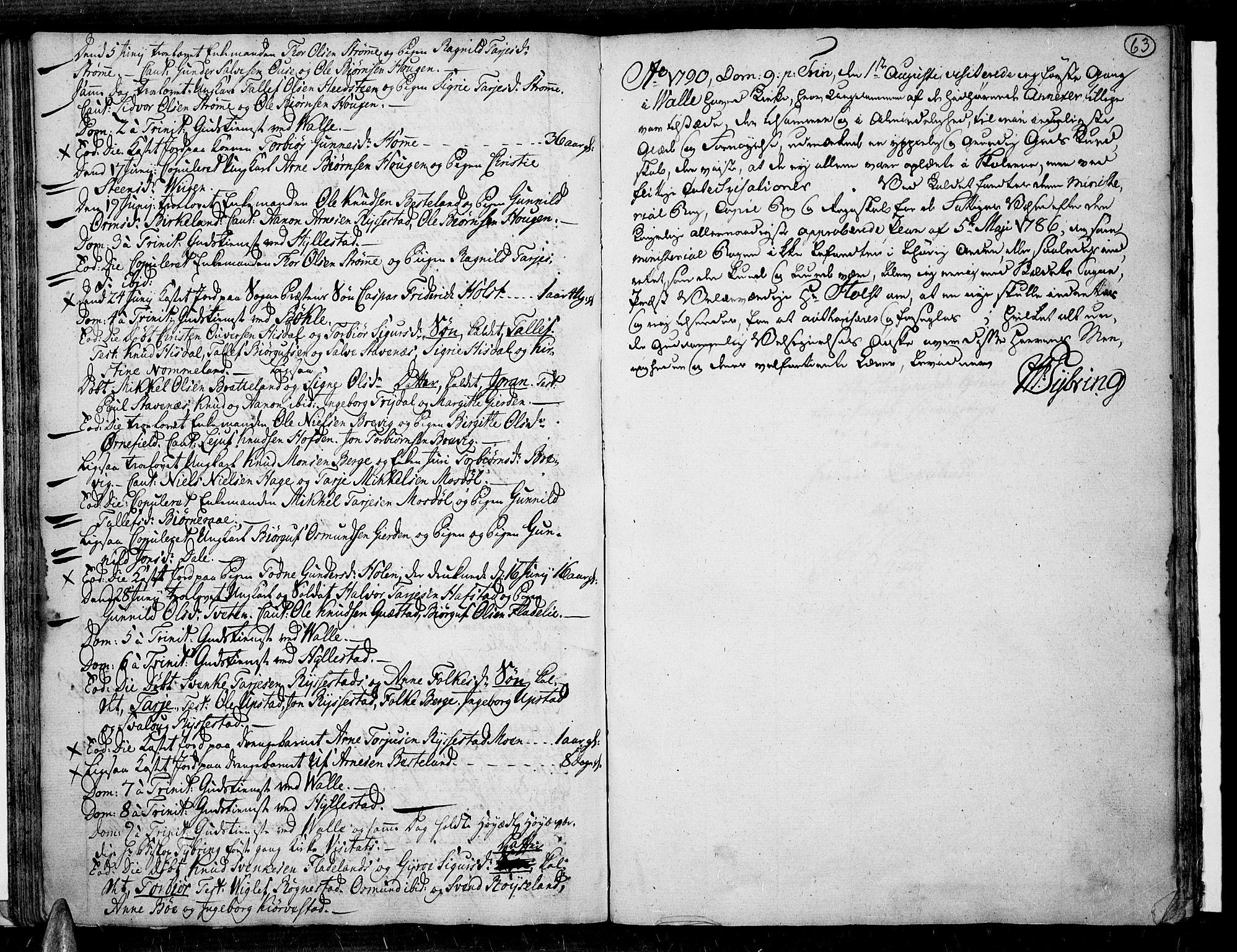 SAK, Valle sokneprestkontor, F/Fa/Fac/L0003: Parish register (official) no. A 3, 1776-1790, p. 63