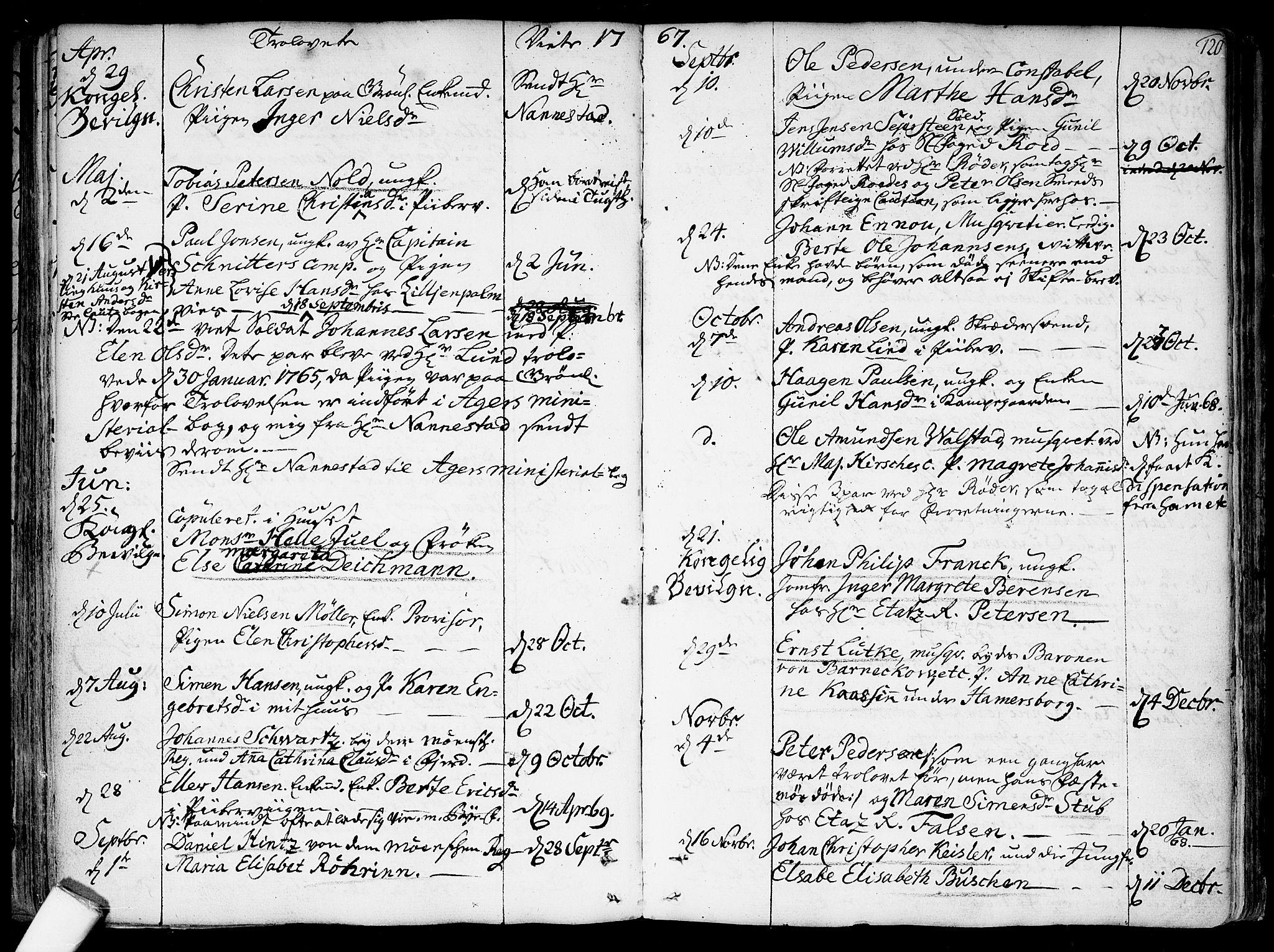 SAO, Garnisonsmenigheten Kirkebøker, F/Fa/L0002: Parish register (official) no. 2, 1757-1776, p. 120