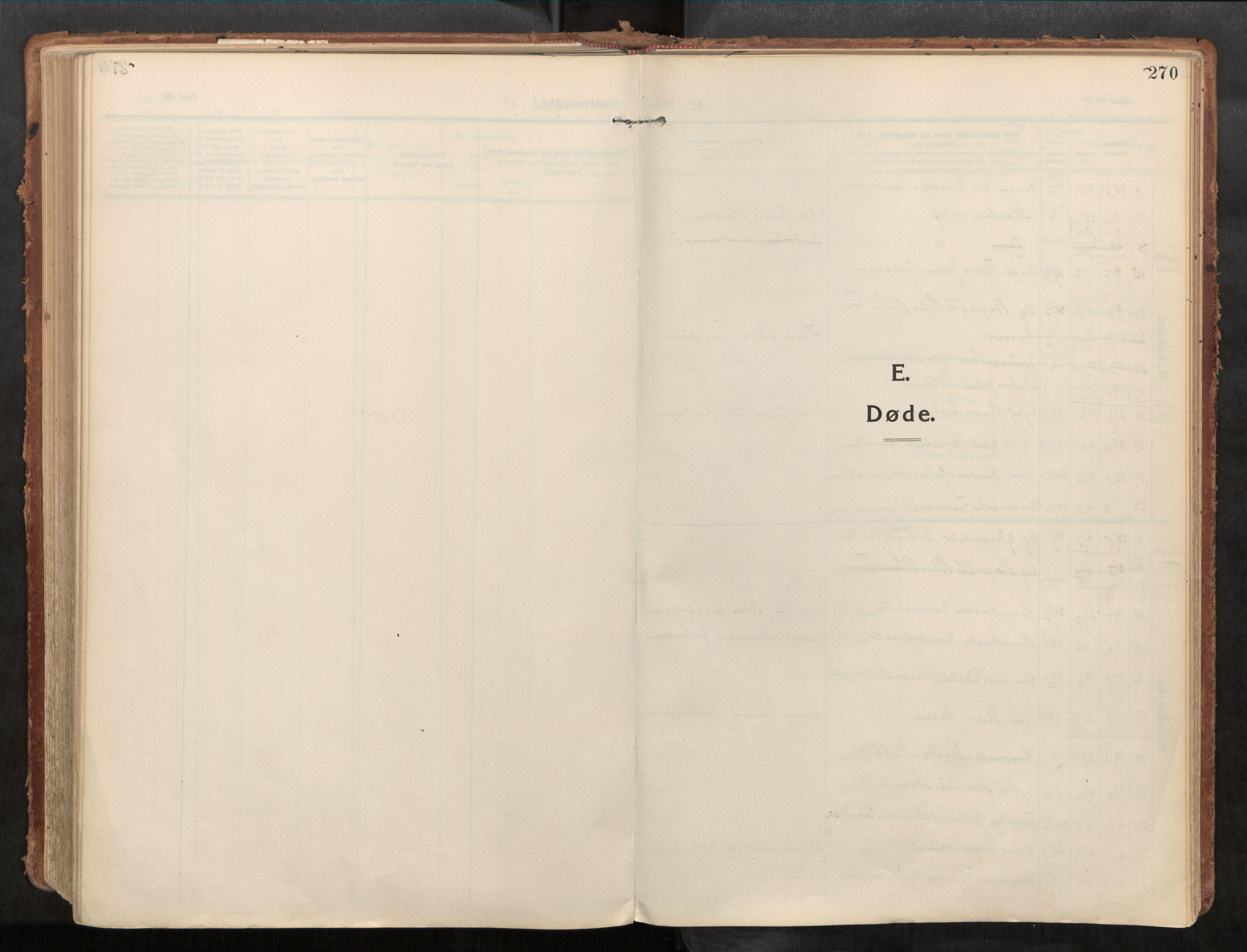 SAT, Stadsbygd sokneprestkontor, I/I1/I1a/L0001: Parish register (official) no. 1, 1911-1929, p. 270