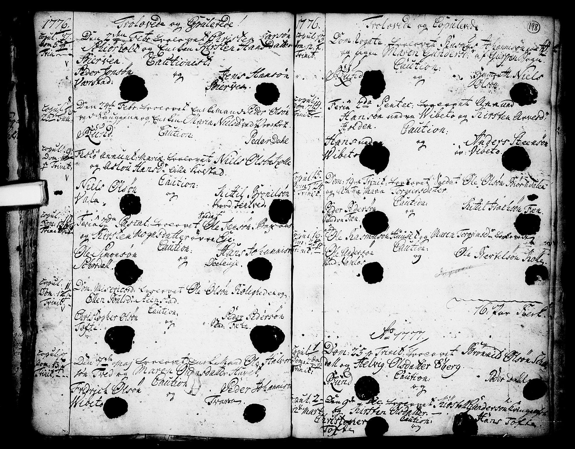 SAKO, Holla kirkebøker, F/Fa/L0001: Parish register (official) no. 1, 1717-1779, p. 198