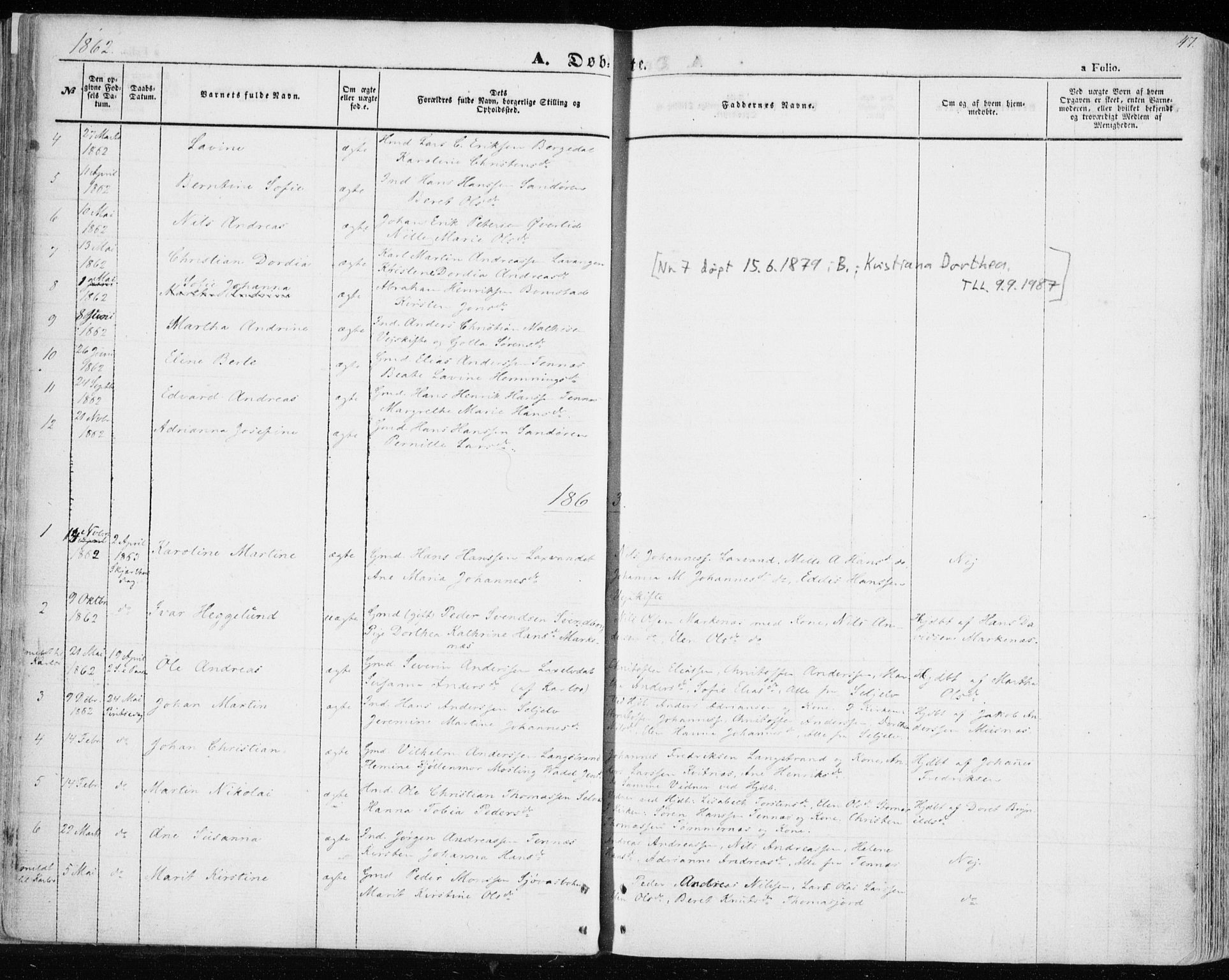 SATØ, Balsfjord sokneprestembete, Parish register (official) no. 3, 1856-1870, p. 47