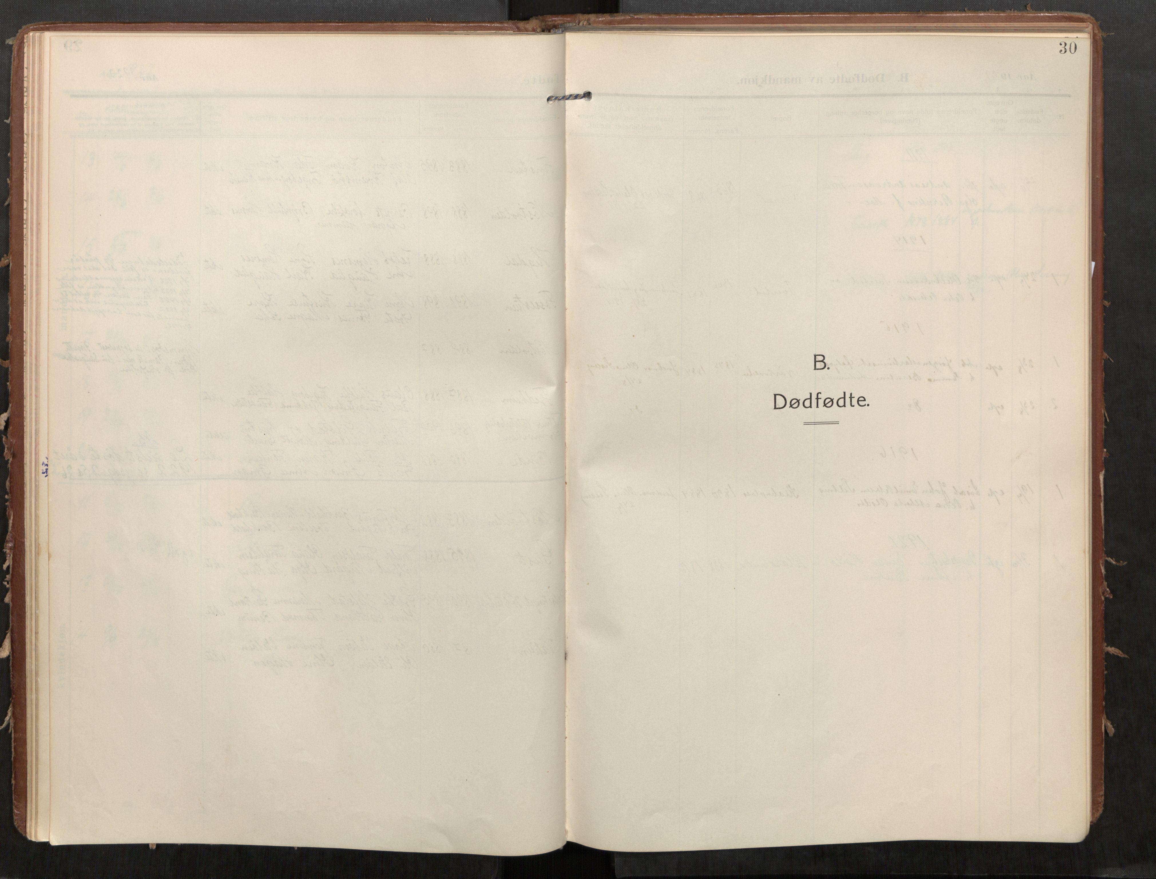 SAT, Stod sokneprestkontor, I/I1/I1a/L0002: Parish register (official) no. 2, 1909-1922, p. 30
