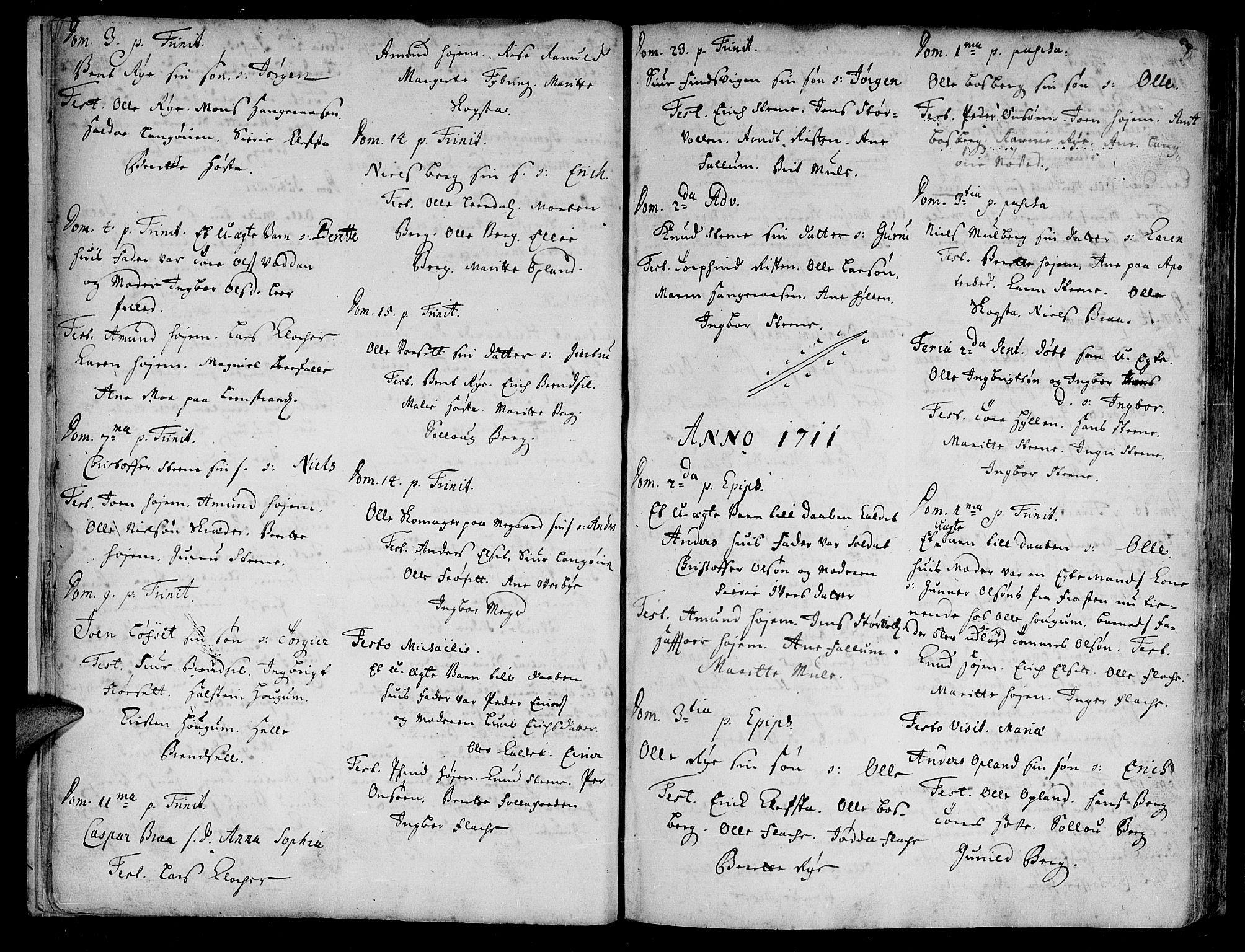 SAT, Ministerialprotokoller, klokkerbøker og fødselsregistre - Sør-Trøndelag, 612/L0368: Parish register (official) no. 612A02, 1702-1753, p. 8