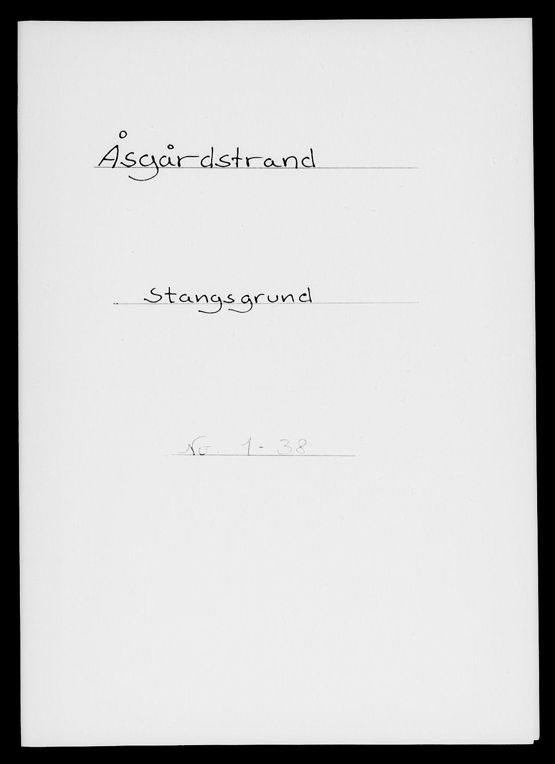 SAKO, 1885 census for 0704 Åsgårdstrand, 1885, p. 1