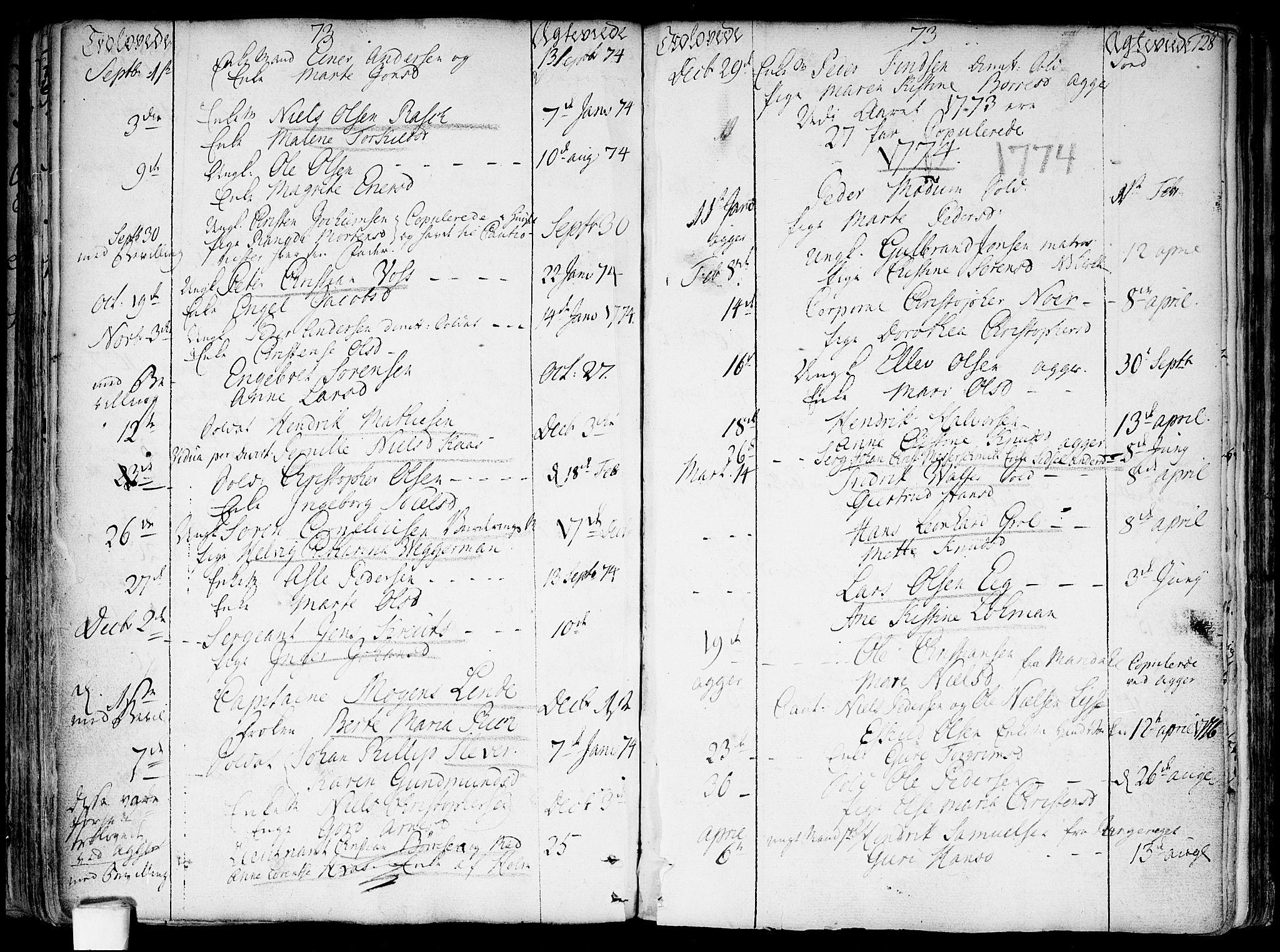 SAO, Garnisonsmenigheten Kirkebøker, F/Fa/L0002: Parish register (official) no. 2, 1757-1776, p. 128