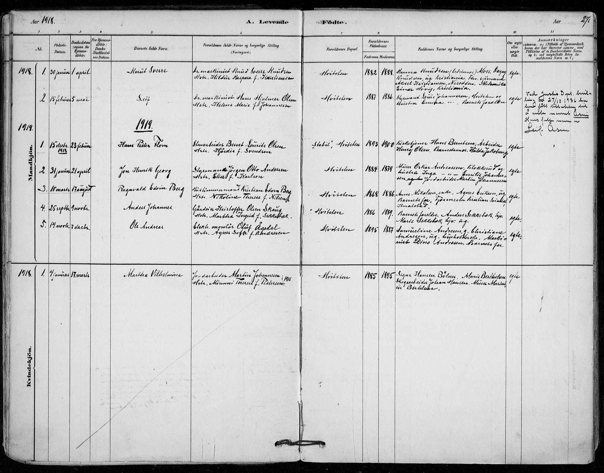 SAO, Vestby prestekontor Kirkebøker, F/Fd/L0001: Parish register (official) no. IV 1, 1878-1945, p. 27