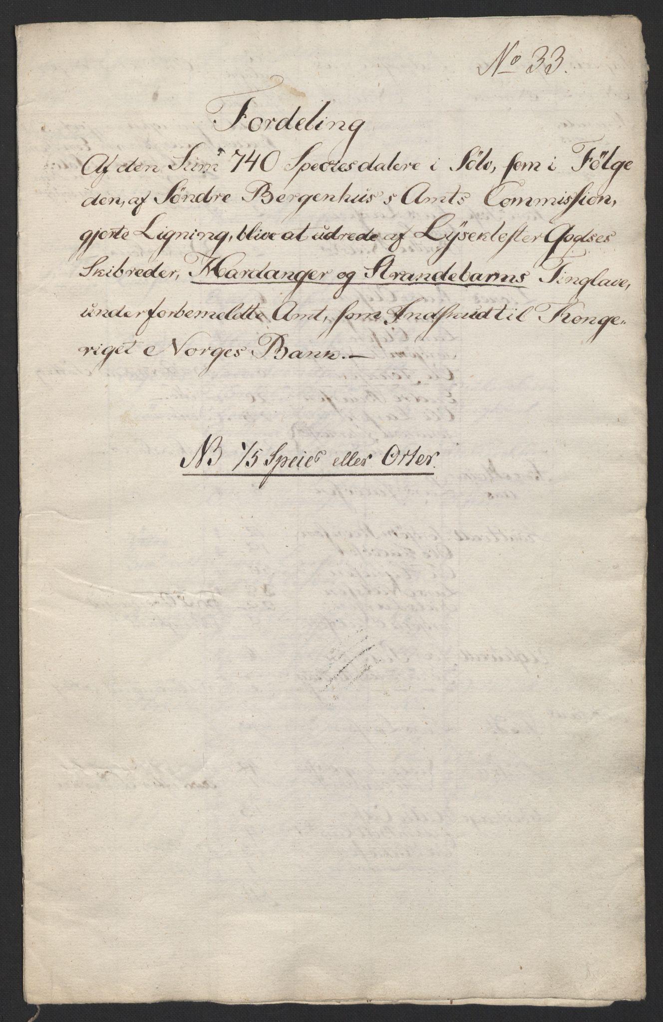 NOBA, Norges Bank/Sølvskatten 1816*, 1816-1824, p. 5