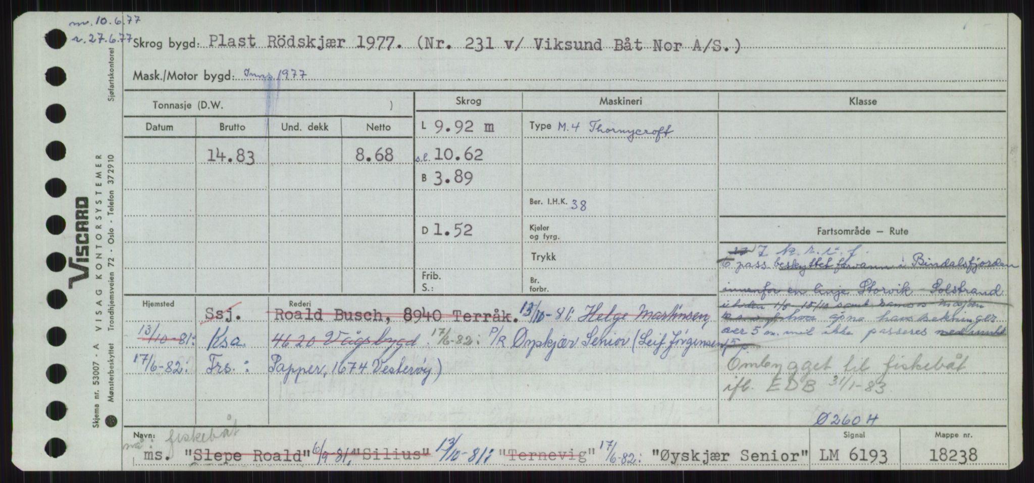 RA, Sjøfartsdirektoratet med forløpere, Skipsmålingen, H/Ha/L0006: Fartøy, Sver-Å, p. 838