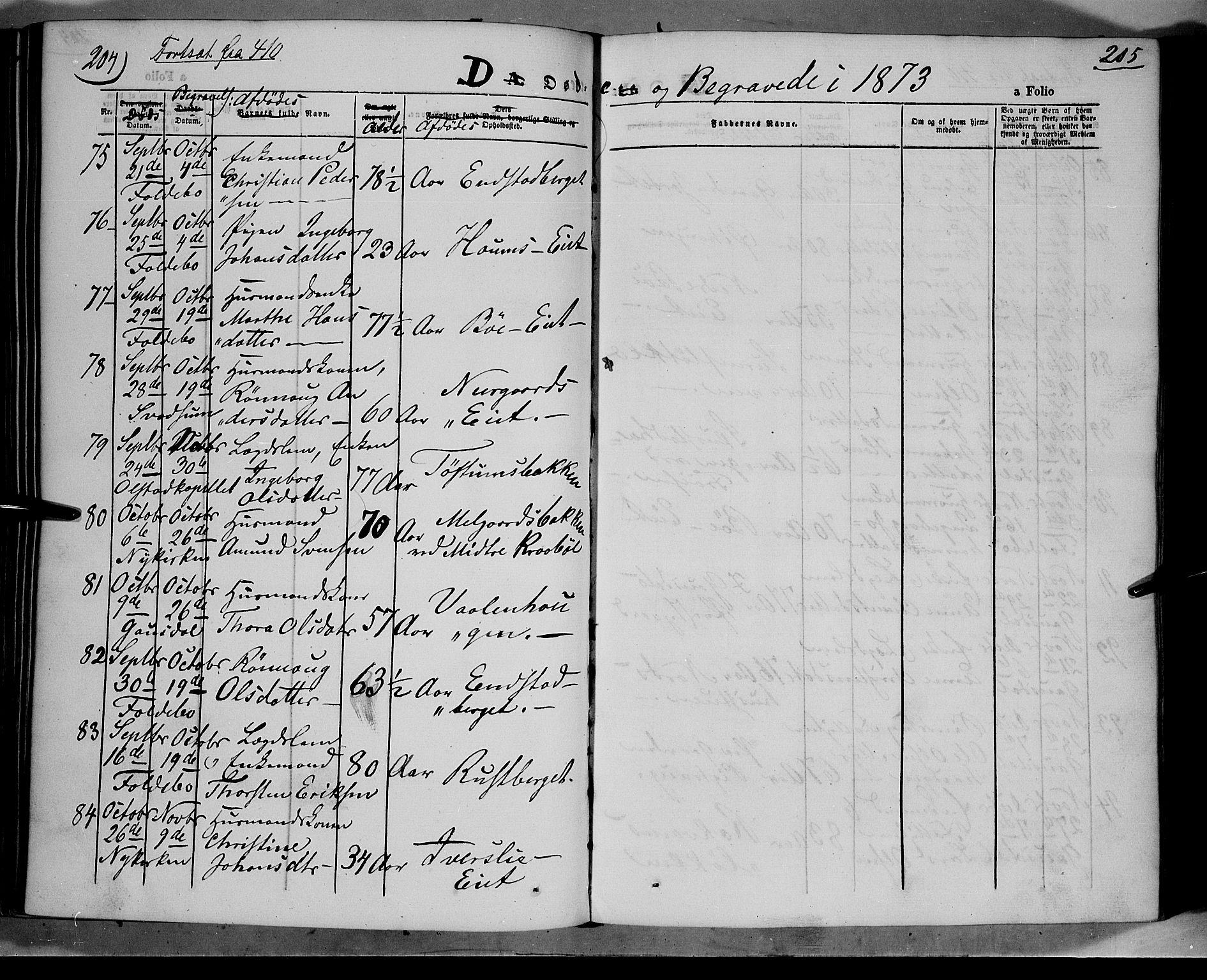 SAH, Gausdal prestekontor, Parish register (official) no. 9, 1862-1873, p. 205