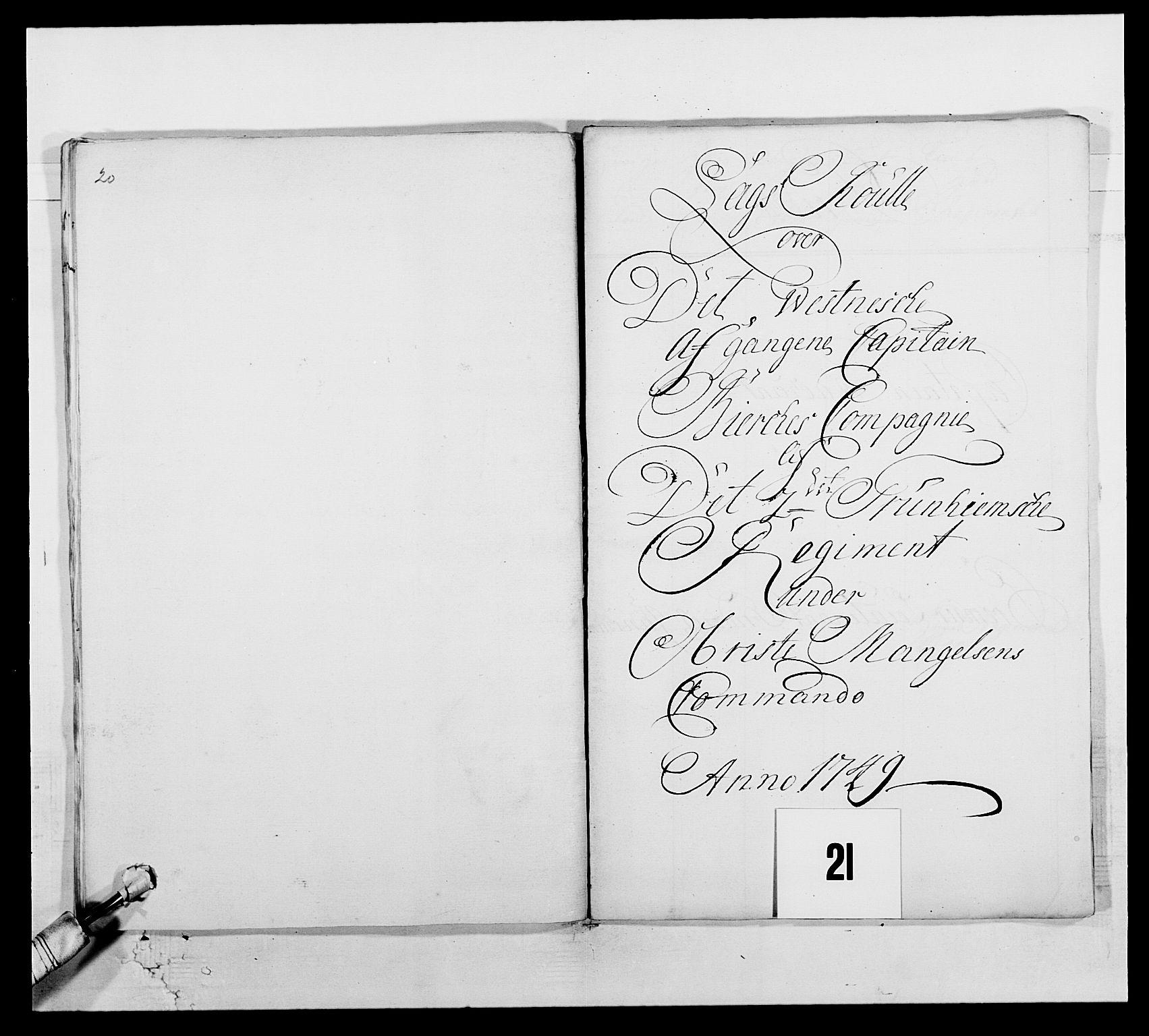 RA, Kommanderende general (KG I) med Det norske krigsdirektorium, E/Ea/L0512: 2. Trondheimske regiment, 1746-1749, p. 482