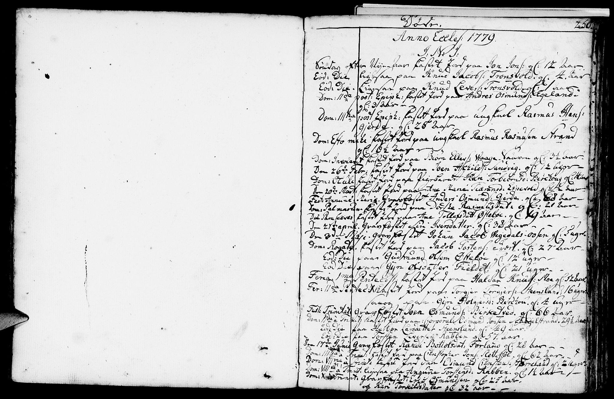 SAST, Vikedal sokneprestkontor, IV: Parish register (official) no. A 2, 1779-1817, p. 250