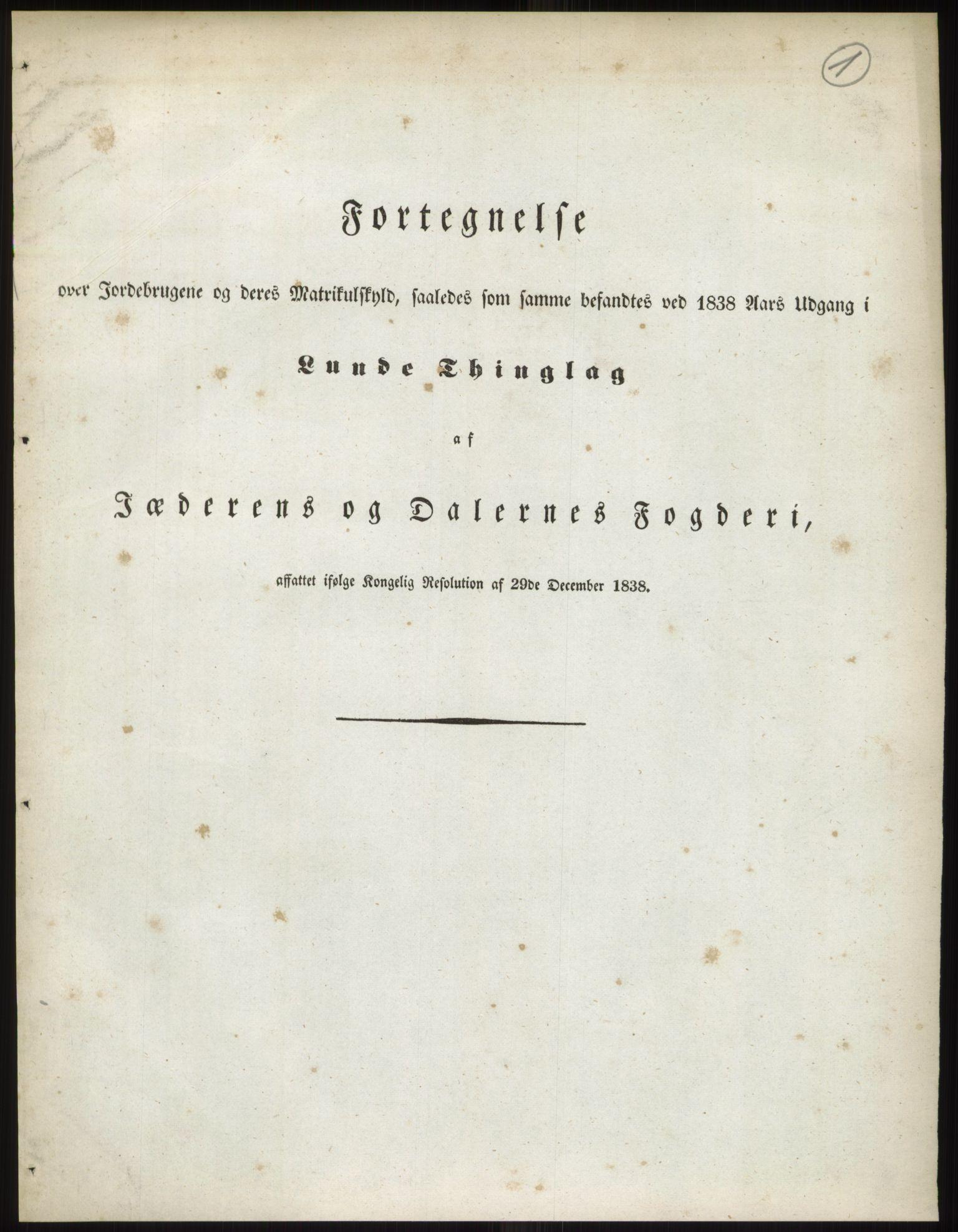 PUBL, Andre publikasjoner, -/Bind 10: Stavanger amt, 1838, p. 3