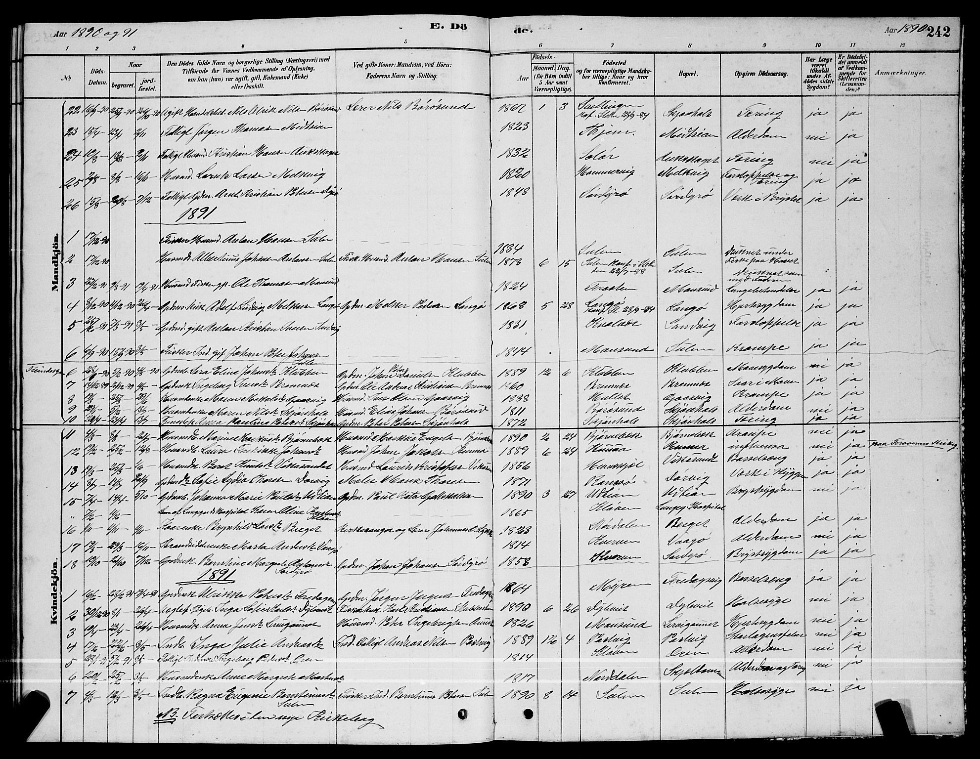 SAT, Ministerialprotokoller, klokkerbøker og fødselsregistre - Sør-Trøndelag, 640/L0585: Parish register (copy) no. 640C03, 1878-1891, p. 242