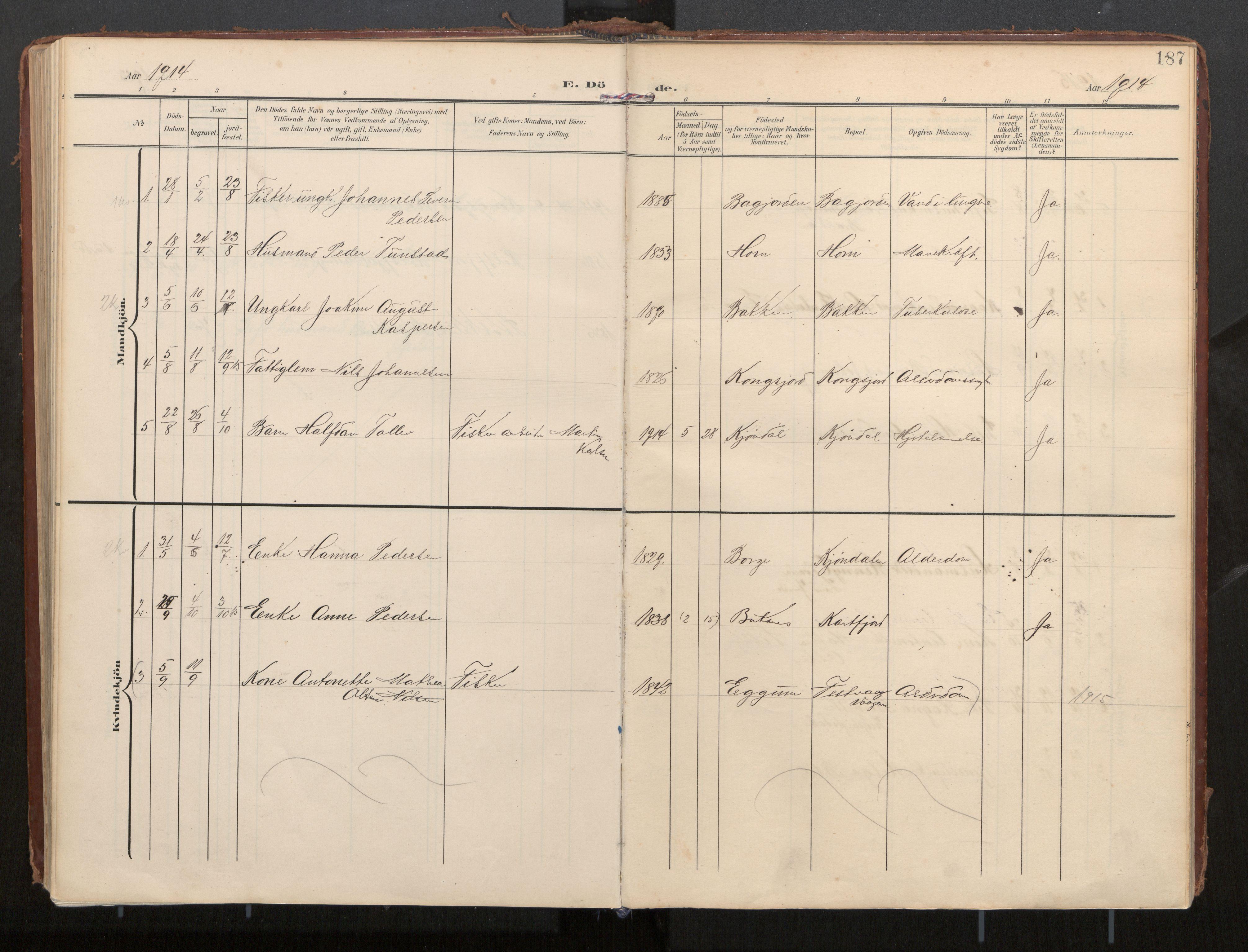 SAT, Ministerialprotokoller, klokkerbøker og fødselsregistre - Nordland, 884/L1194: Parish register (official) no. 884A02, 1906-1937, p. 188