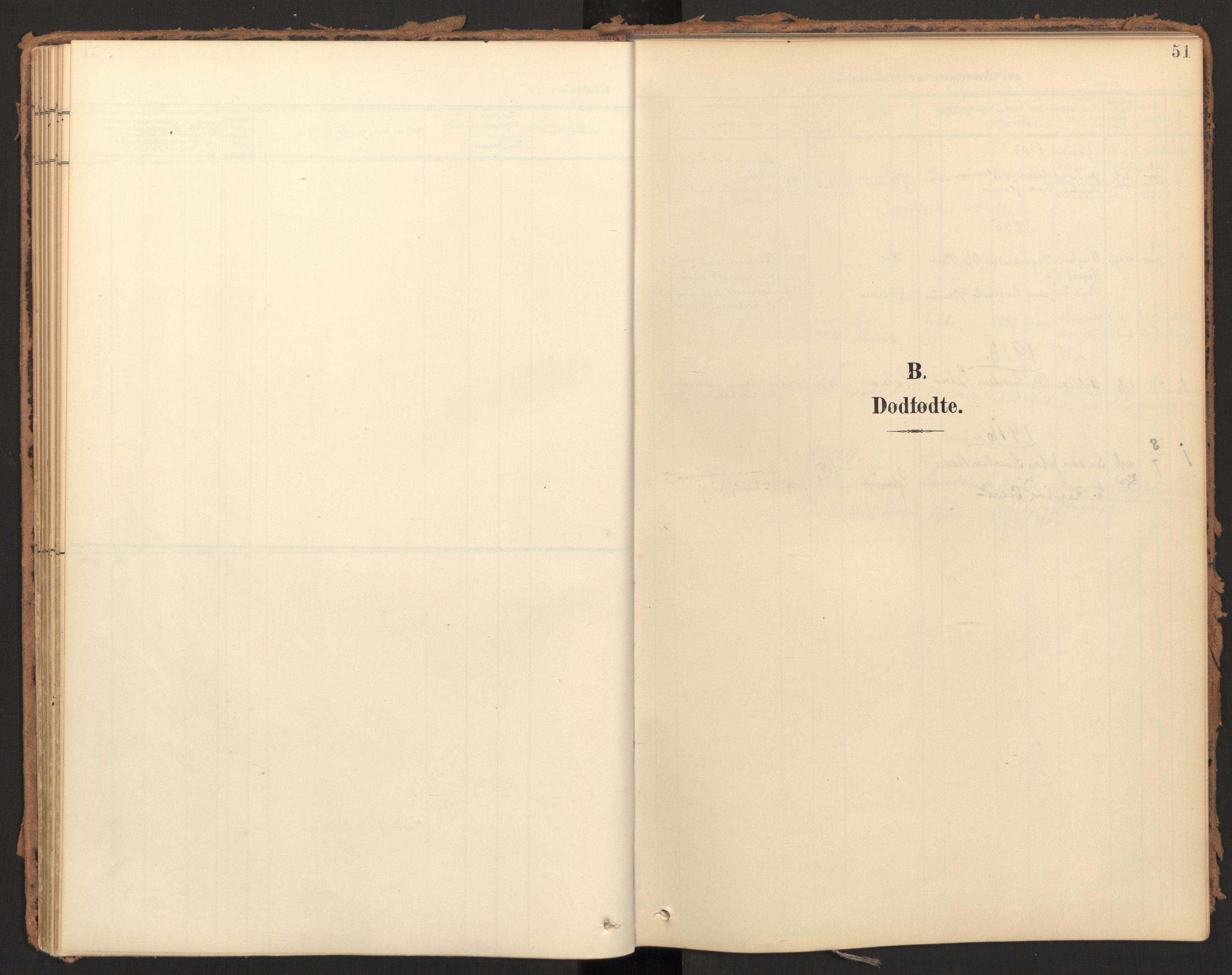 SAT, Ministerialprotokoller, klokkerbøker og fødselsregistre - Møre og Romsdal, 595/L1048: Parish register (official) no. 595A10, 1900-1917, p. 51