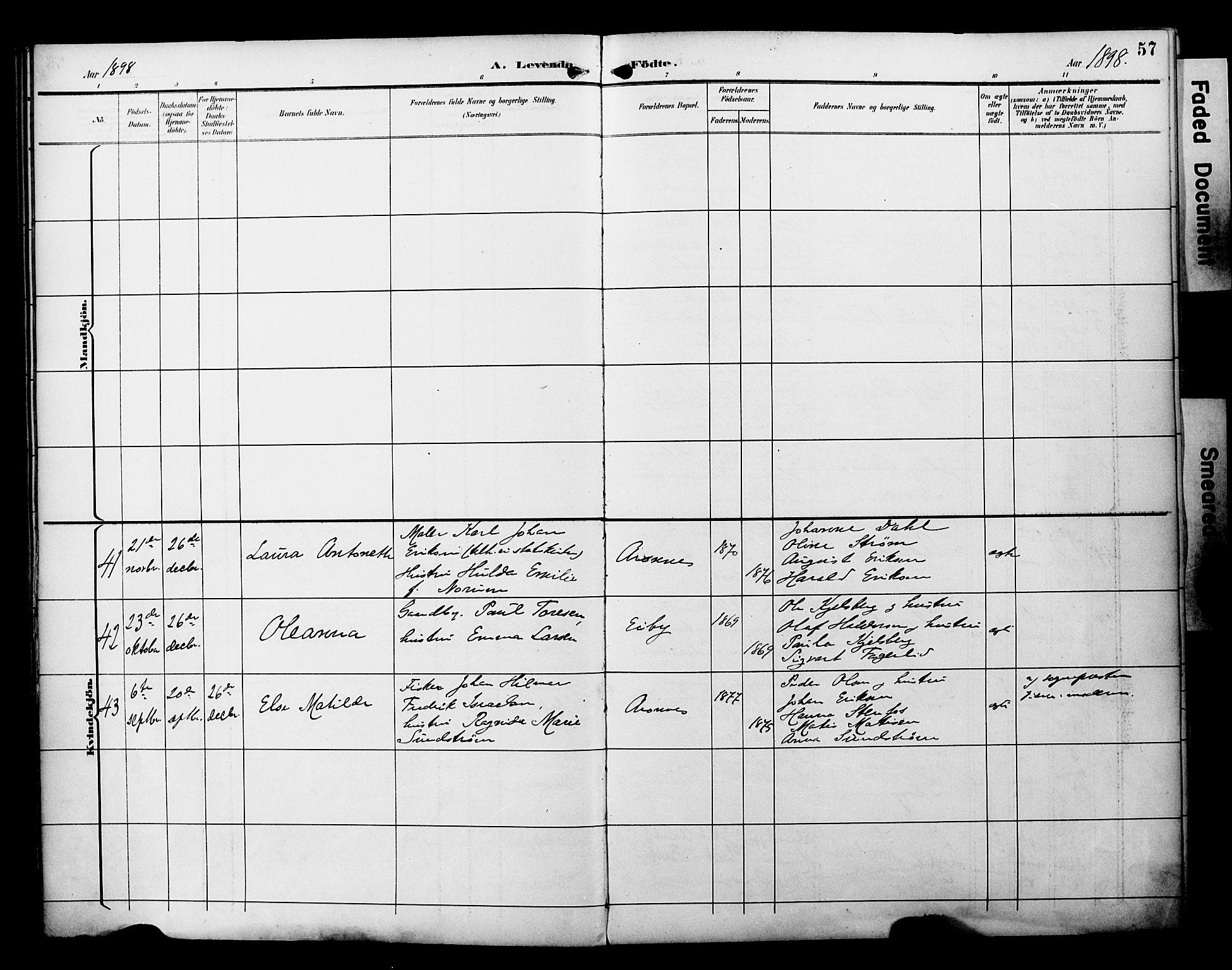SATØ, Alta sokneprestembete, Parish register (official) no. 3, 1892-1904, p. 57