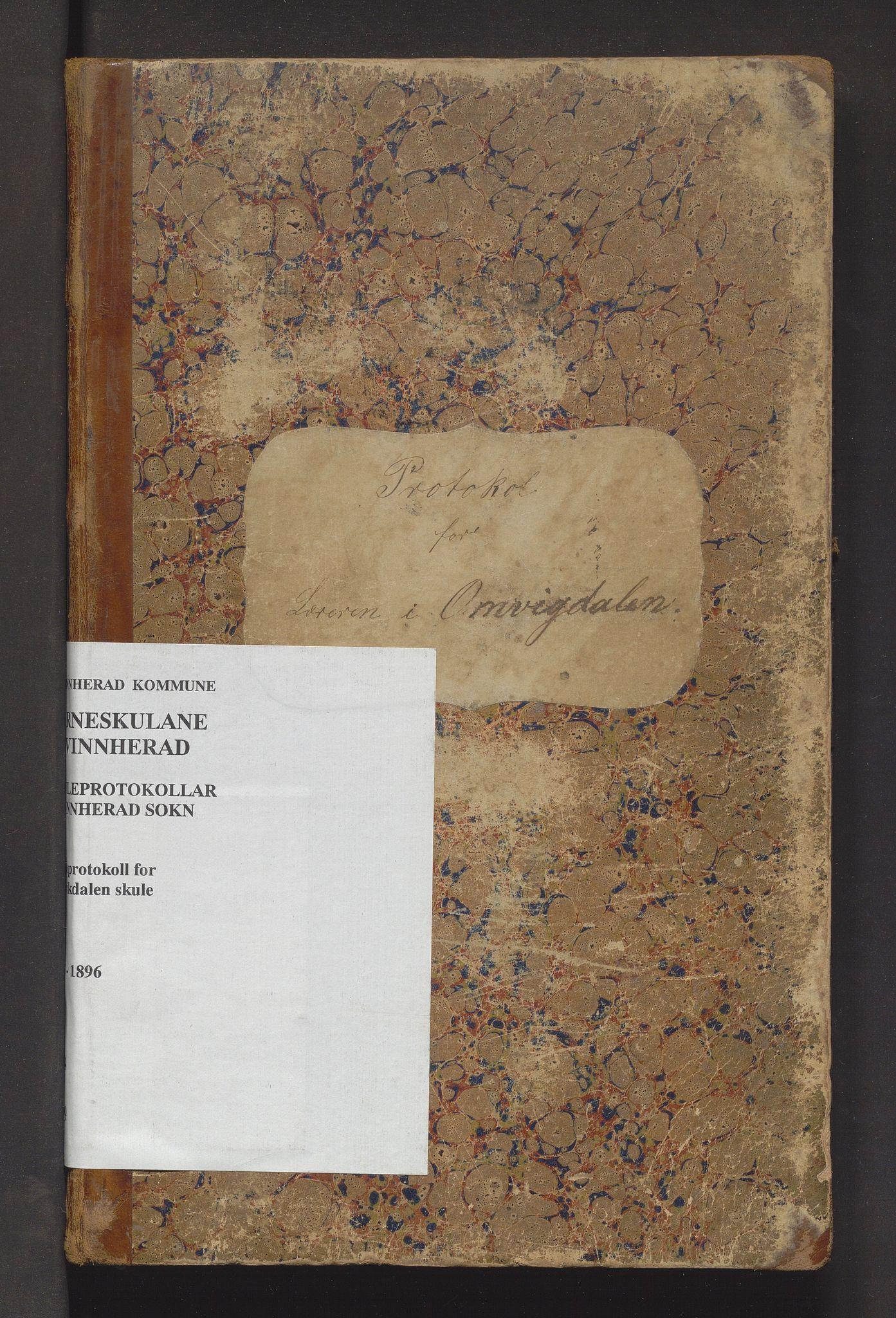 IKAH, Kvinnherad kommune. Barneskulane, F/Fe/L0009: Skuleprotokoll for Omvikdalen krins , 1878-1896