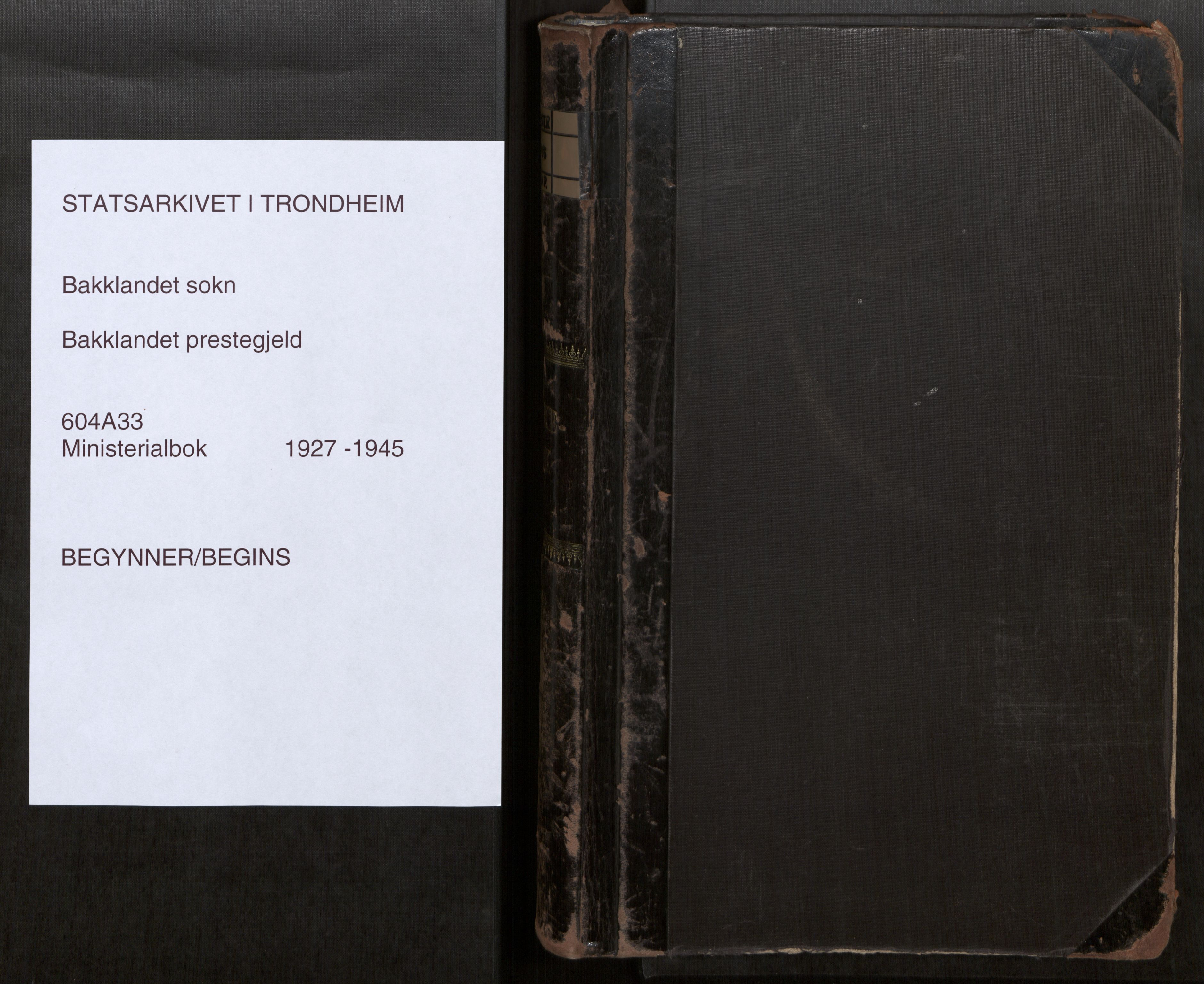 SAT, Bakklandet sokneprestkontor, Parish register (official) no. 604A33, 1927-1945