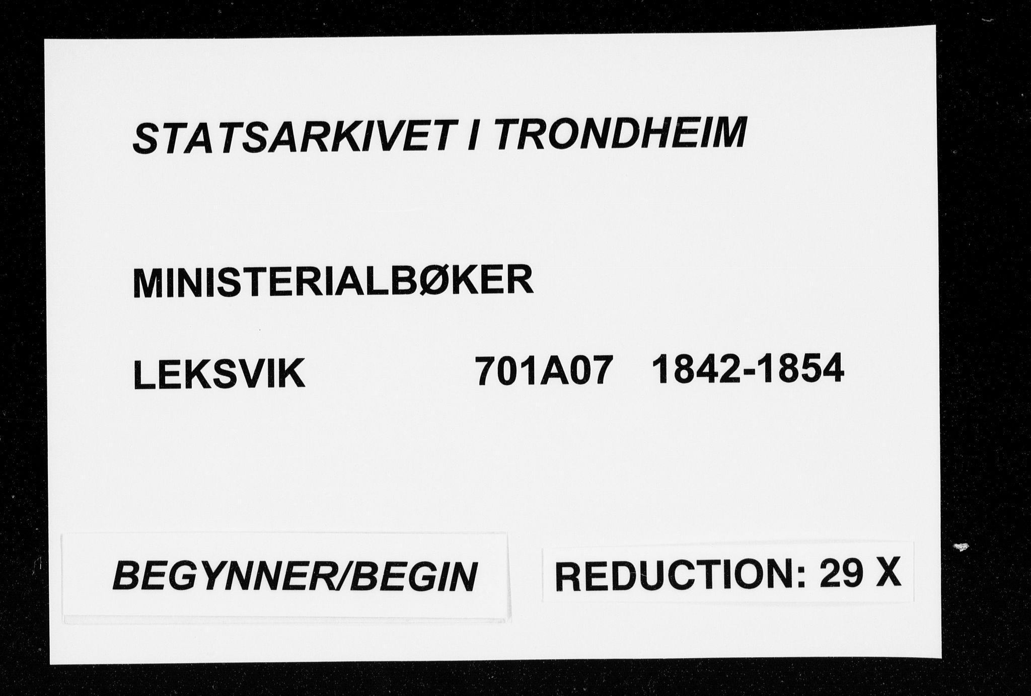 SAT, Ministerialprotokoller, klokkerbøker og fødselsregistre - Nord-Trøndelag, 701/L0007: Parish register (official) no. 701A07 /1, 1842-1854