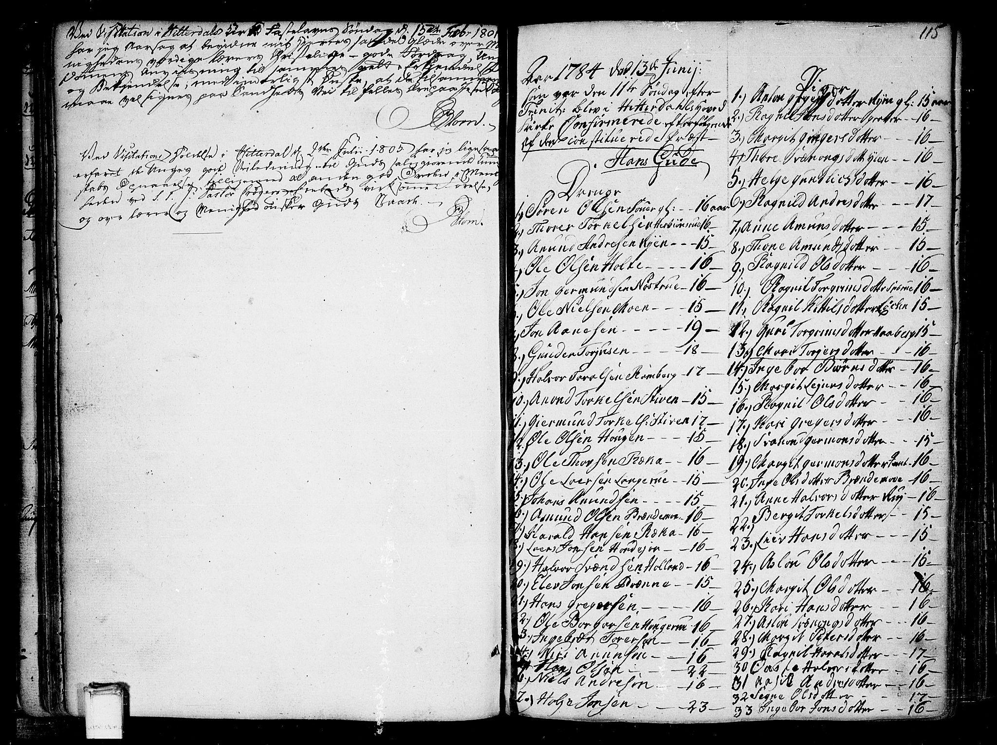 SAKO, Heddal kirkebøker, F/Fa/L0004: Parish register (official) no. I 4, 1784-1814, p. 115