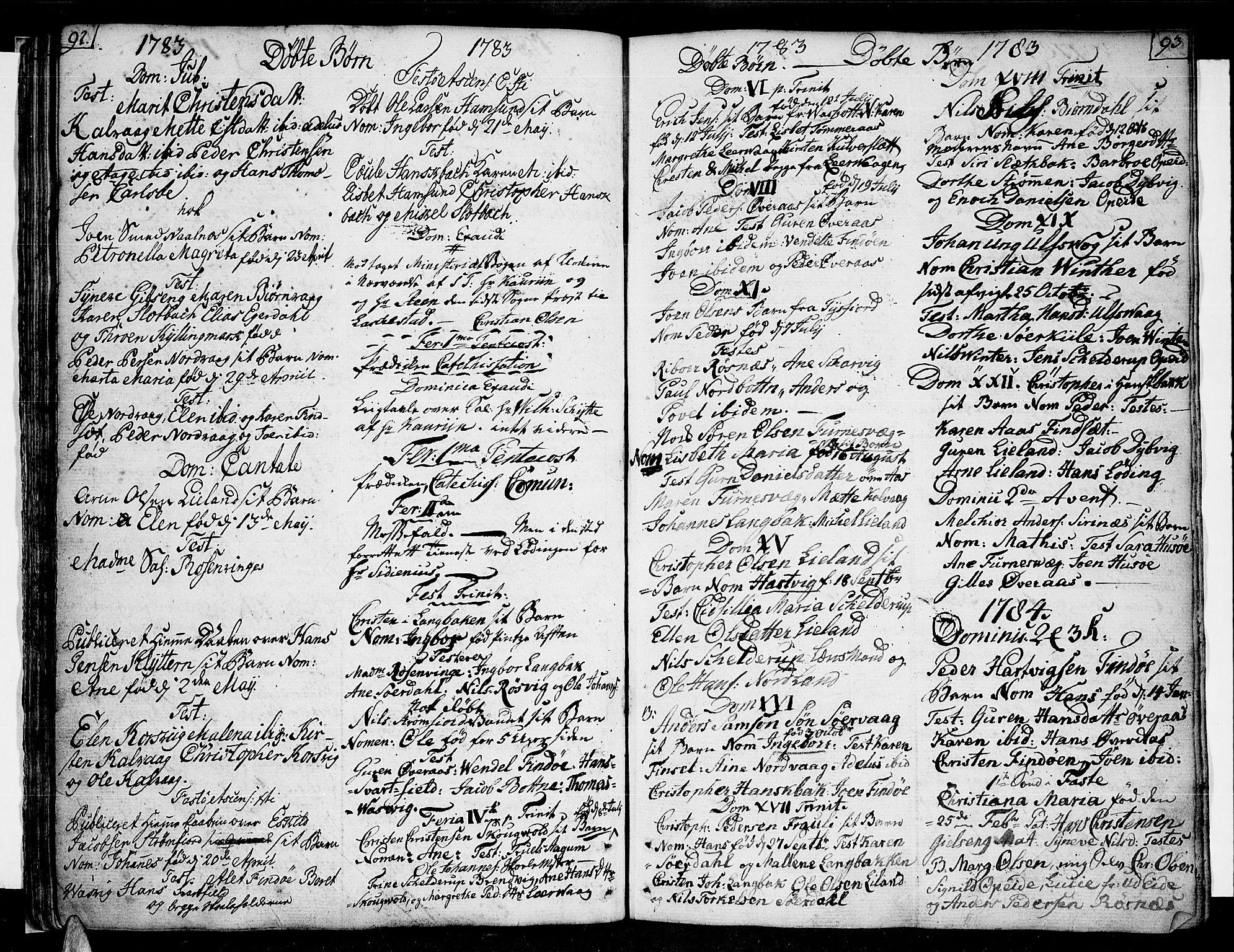 SAT, Ministerialprotokoller, klokkerbøker og fødselsregistre - Nordland, 859/L0841: Parish register (official) no. 859A01, 1766-1821, p. 92-93