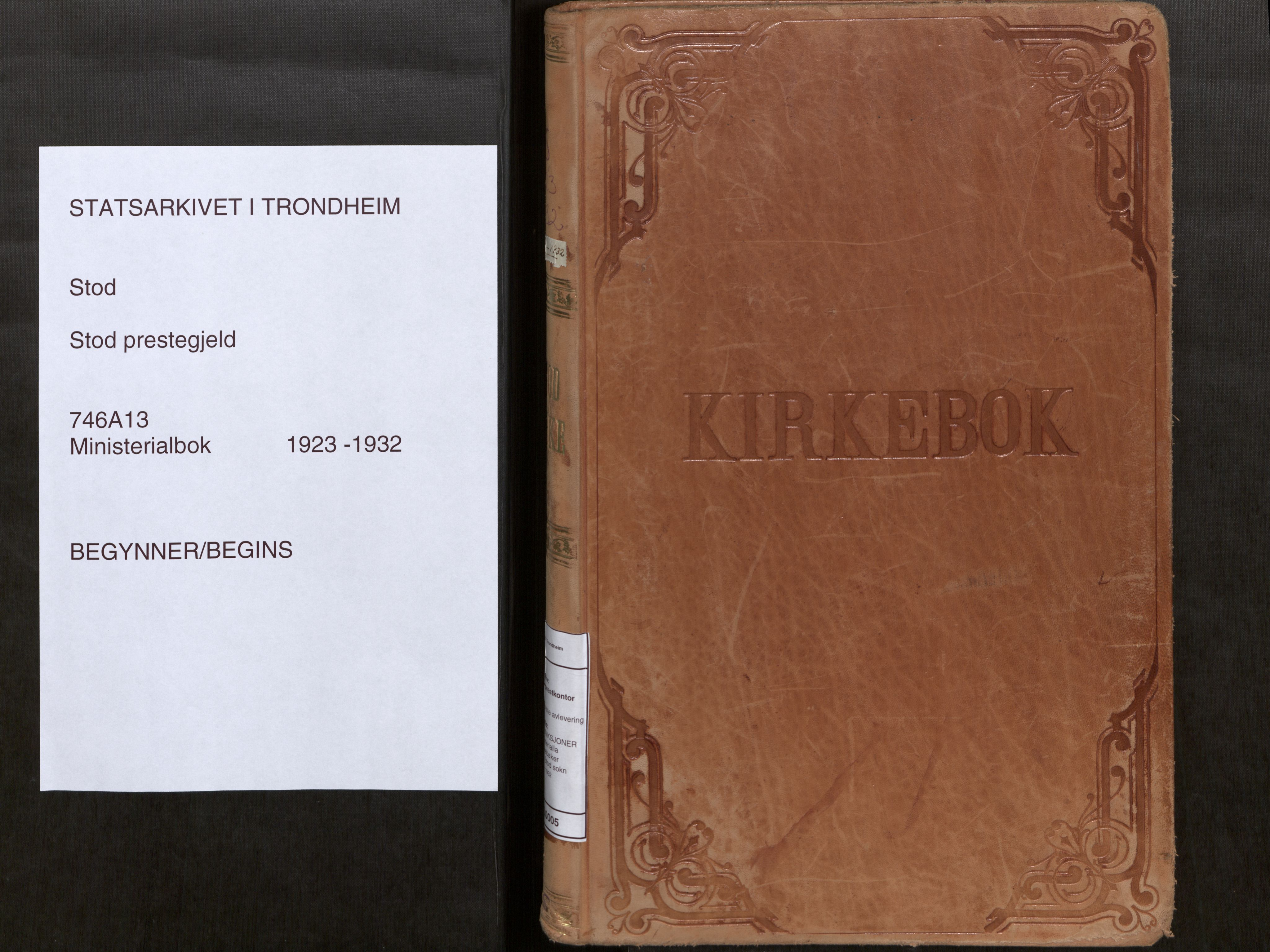 SAT, Stod sokneprestkontor, I/I1/I1a/L0005: Parish register (official) no. 5, 1923-1932