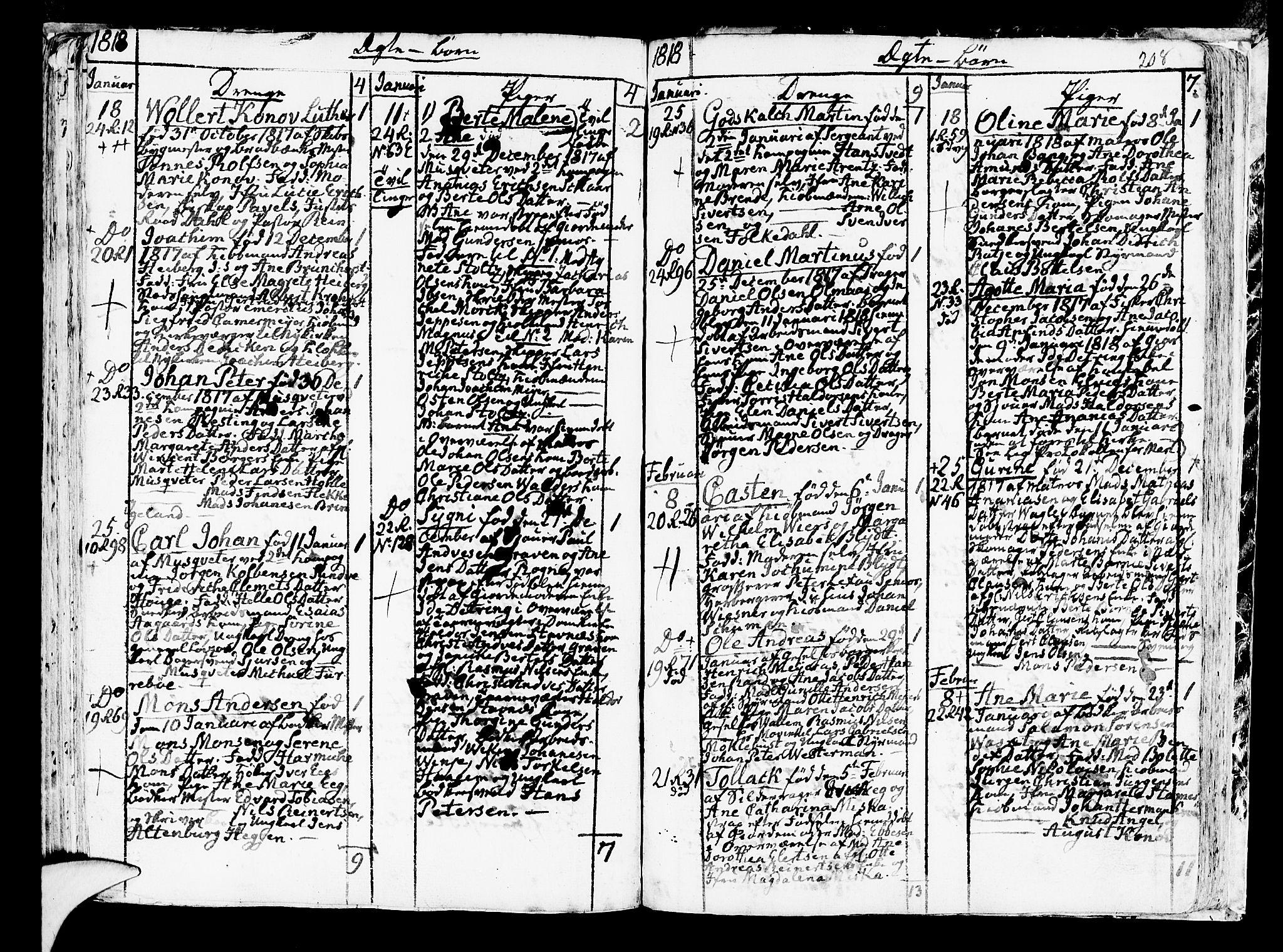 SAB, Korskirken Sokneprestembete, H/Haa/L0006: Parish register (official) no. A 6, 1790-1820, p. 208