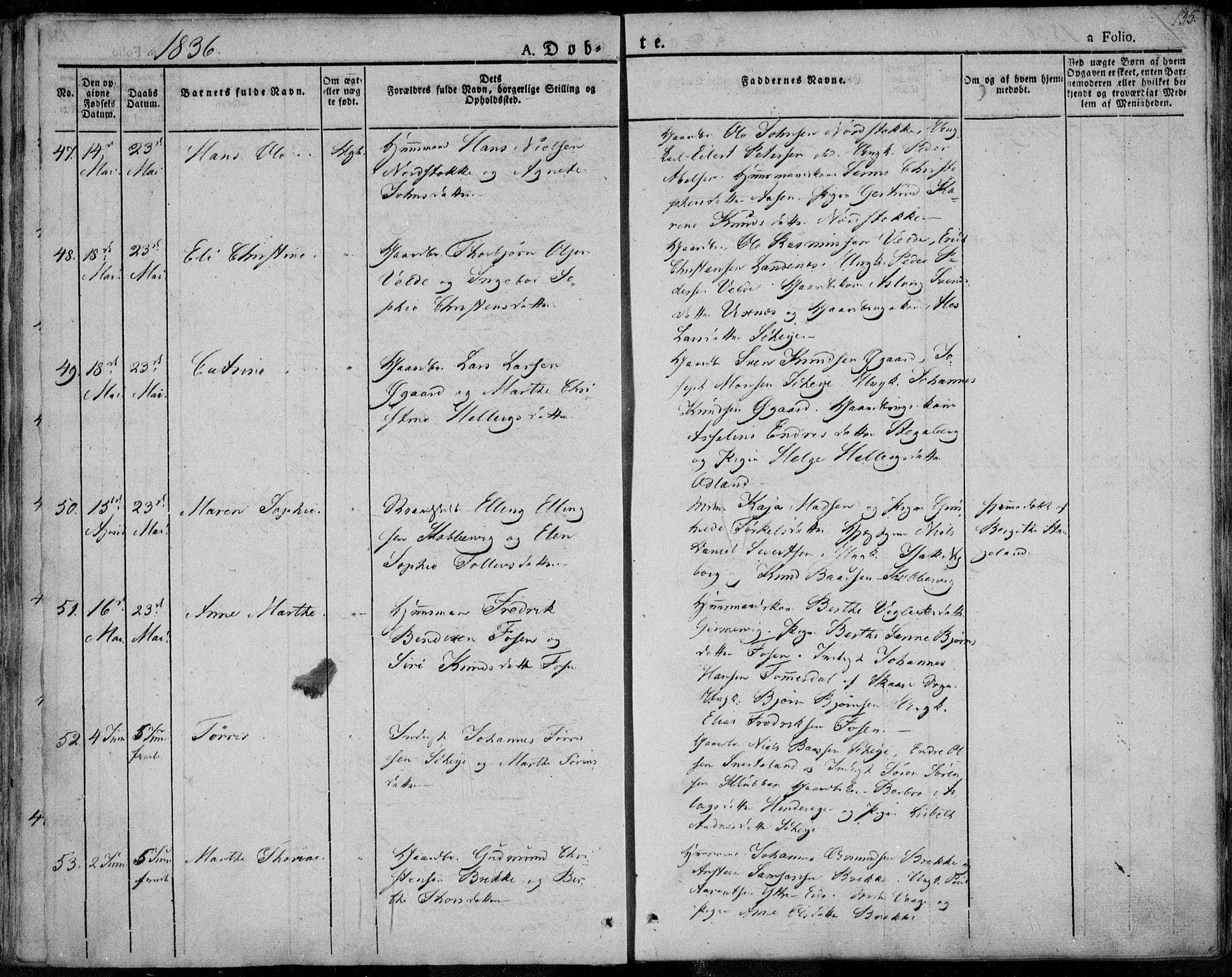 SAST, Avaldsnes sokneprestkontor, H/Ha/Haa/L0005: Parish register (official) no. A 5.1, 1825-1841, p. 135