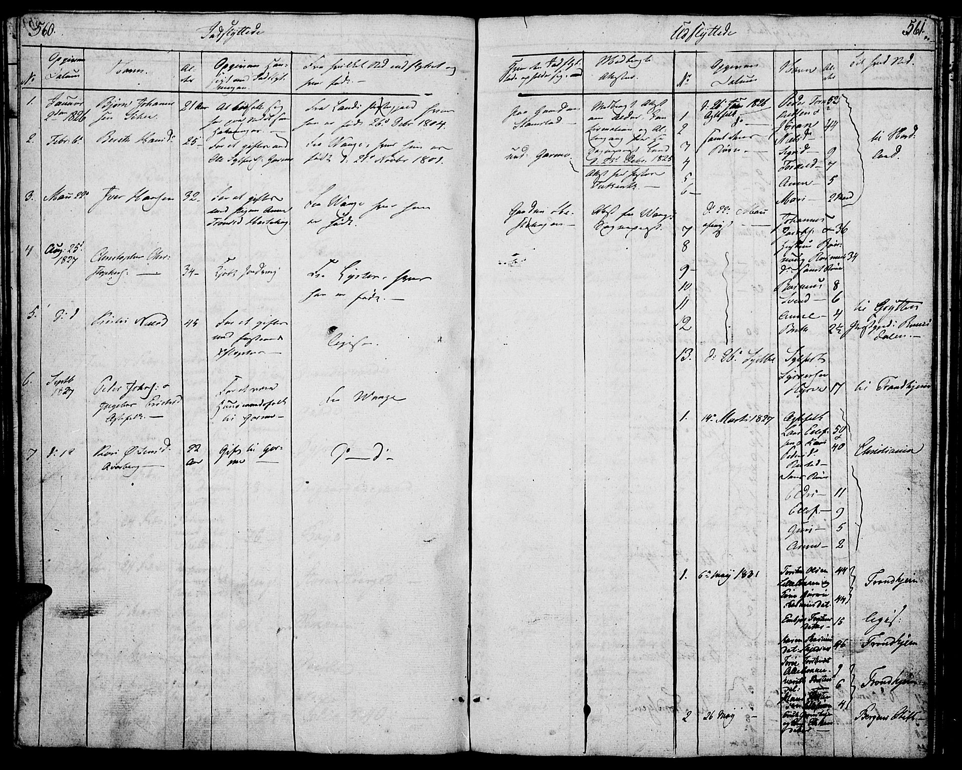 SAH, Lom prestekontor, K/L0005: Parish register (official) no. 5, 1825-1837, p. 560-561