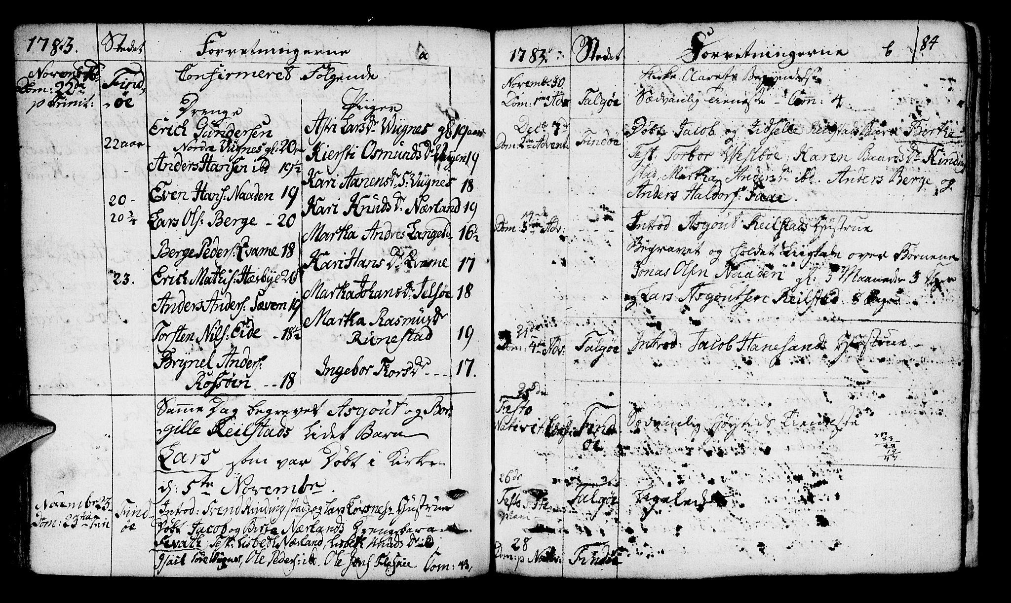 SAST, Finnøy sokneprestkontor, H/Ha/Haa/L0005: Parish register (official) no. A 5, 1773-1816, p. 84