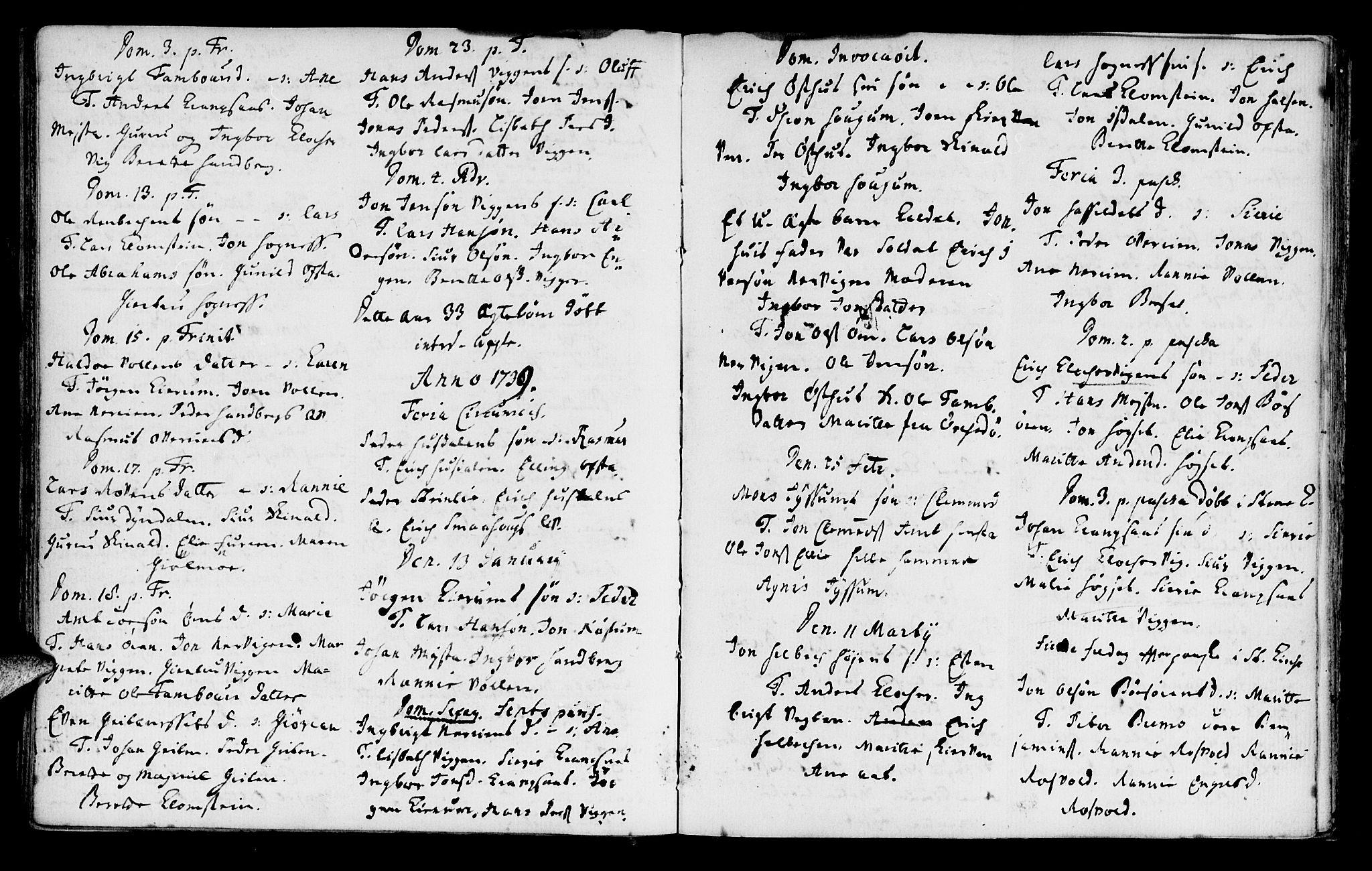 SAT, Ministerialprotokoller, klokkerbøker og fødselsregistre - Sør-Trøndelag, 665/L0767: Parish register (official) no. 665A02, 1735-1753