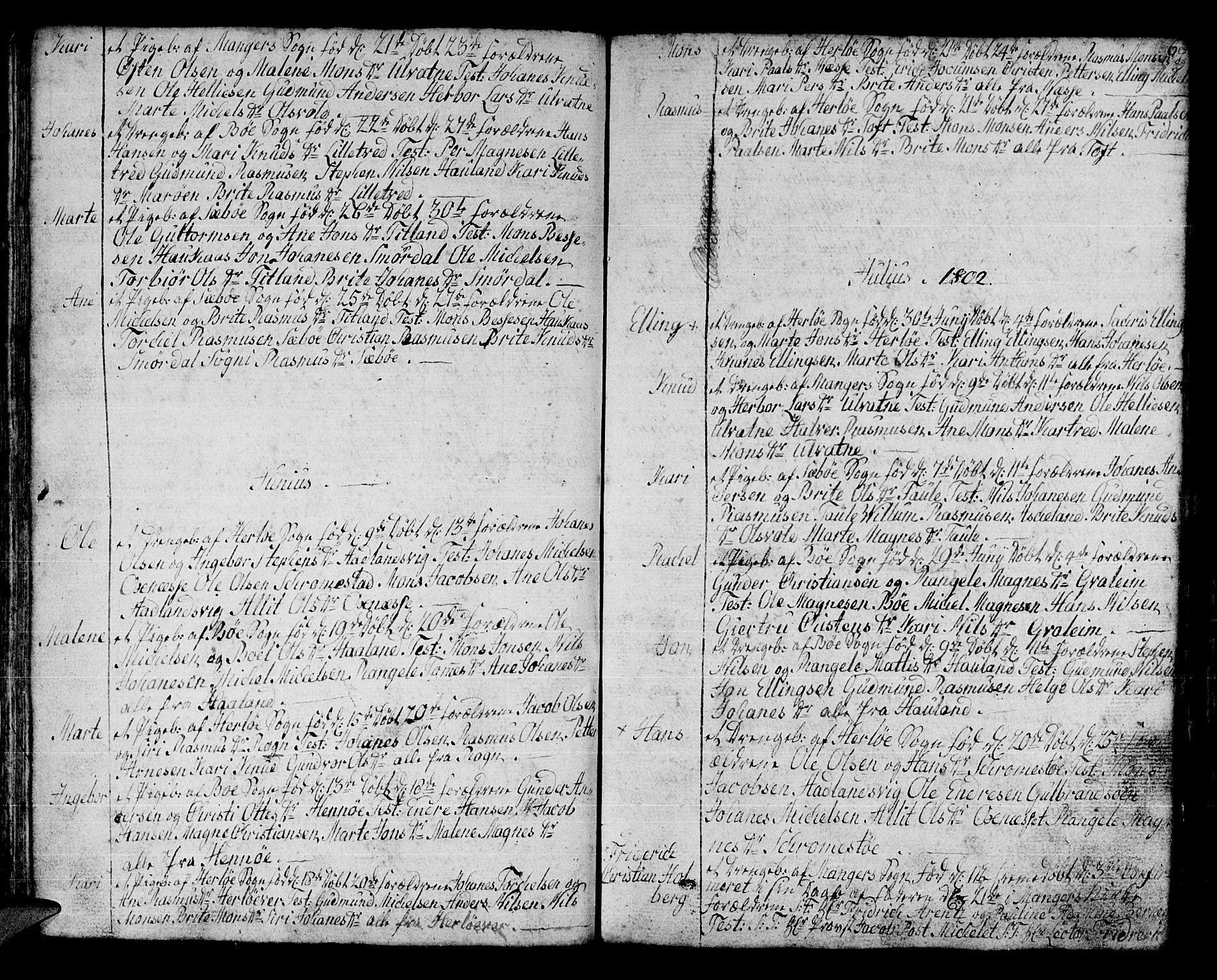 SAB, Manger sokneprestembete, H/Haa: Parish register (official) no. A 2, 1792-1815, p. 68