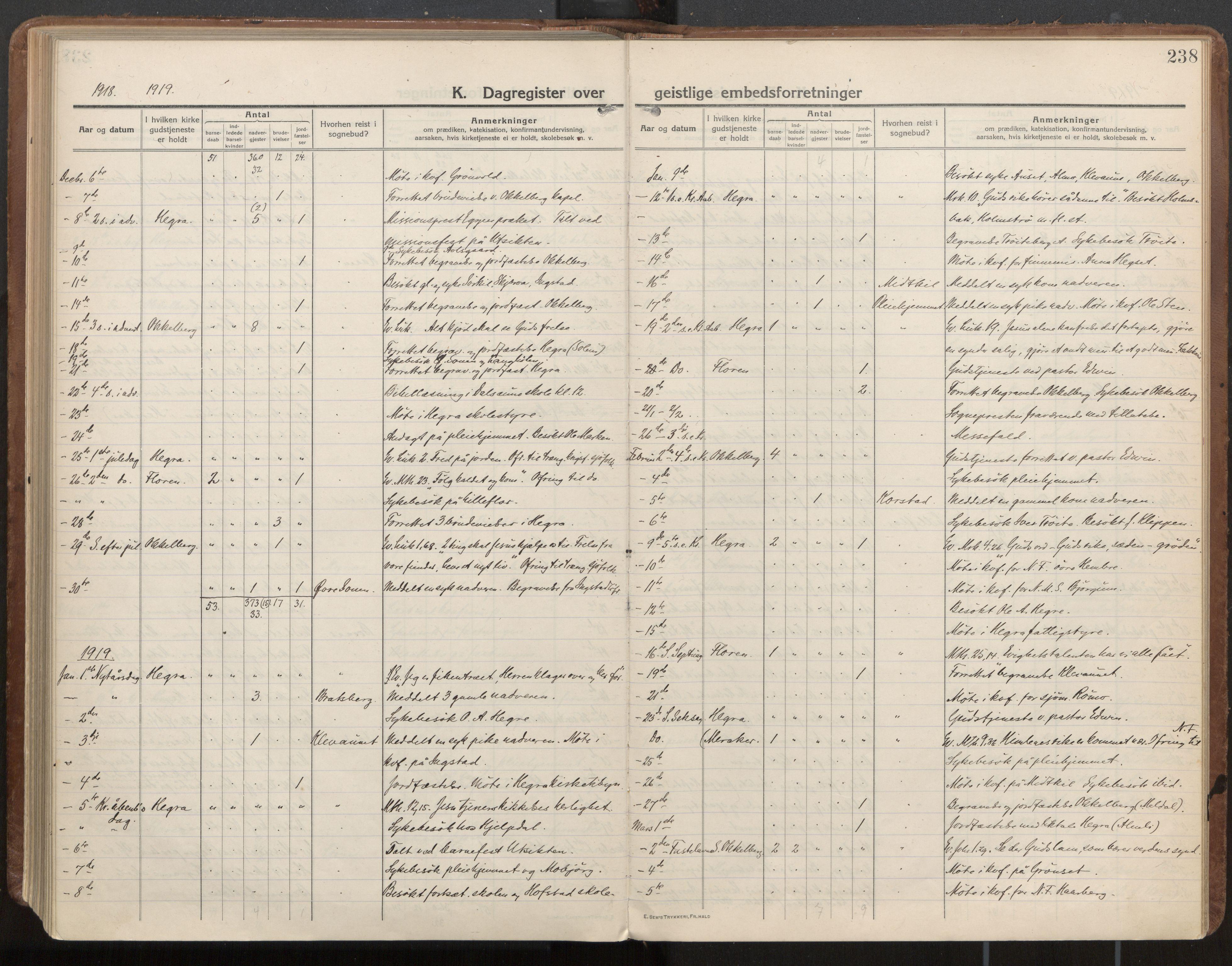 SAT, Ministerialprotokoller, klokkerbøker og fødselsregistre - Nord-Trøndelag, 703/L0037: Parish register (official) no. 703A10, 1915-1932, p. 238
